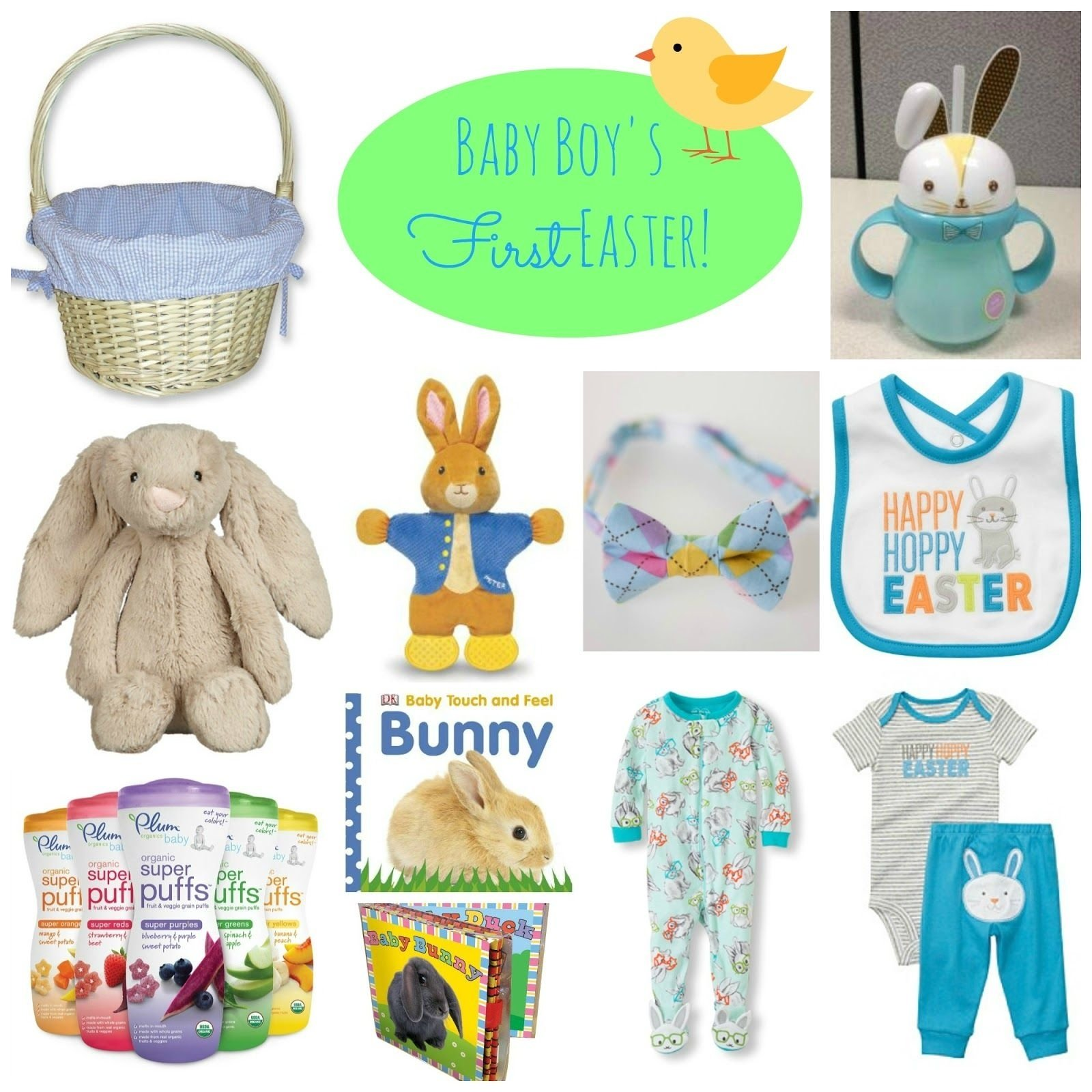 baby boy's first easter basket ideas (with links for purchasing