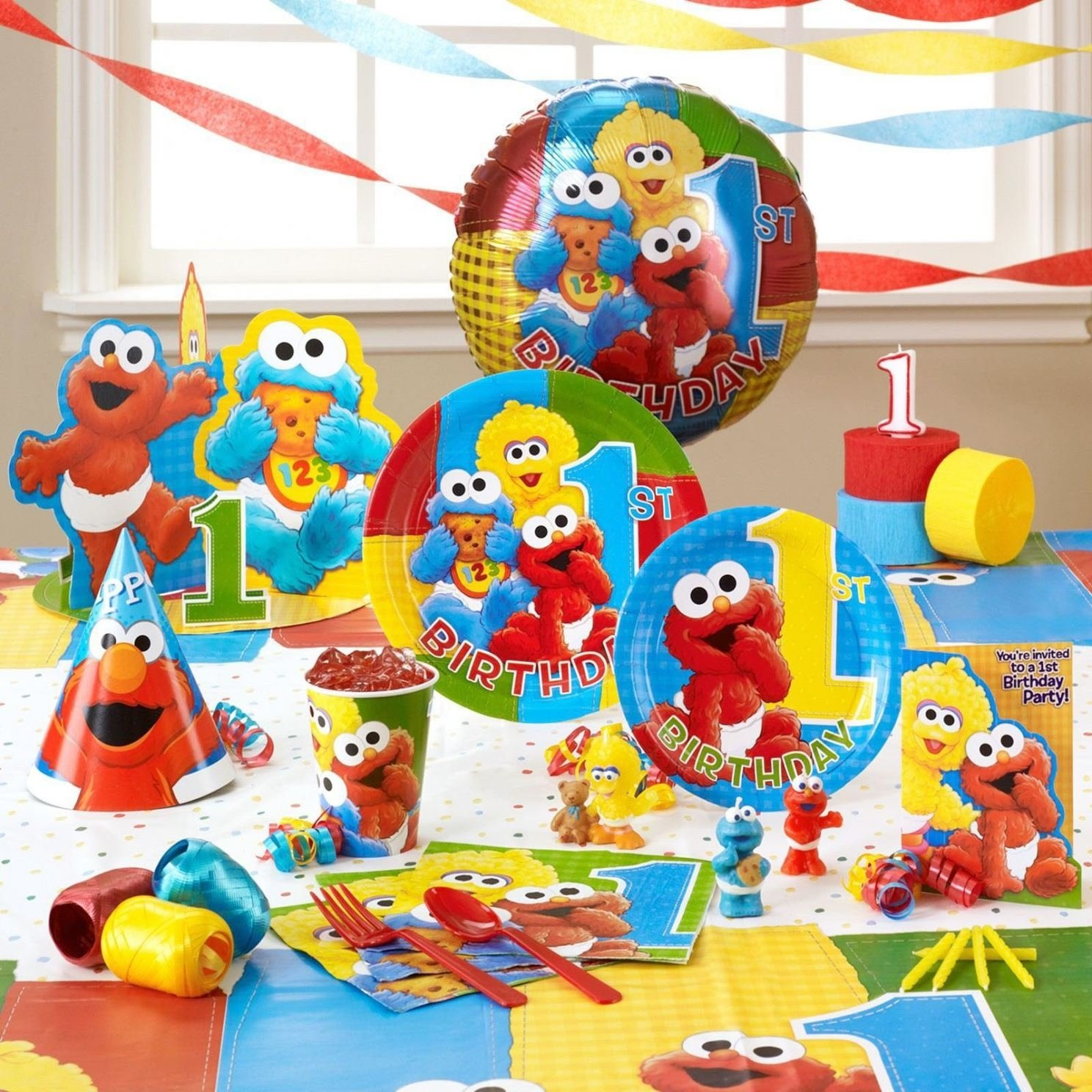 baby elmo 1st birthday party supplies ( elmo birthday party