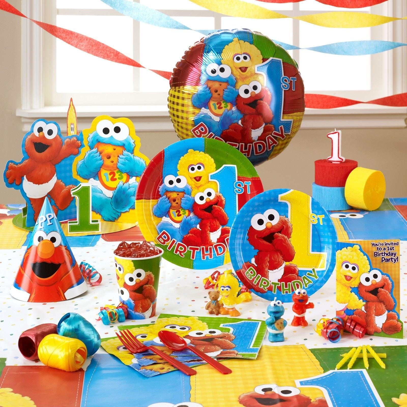 10 Trendy Sesame Street First Birthday Party Ideas Baby Elmo 1st Supplies Home