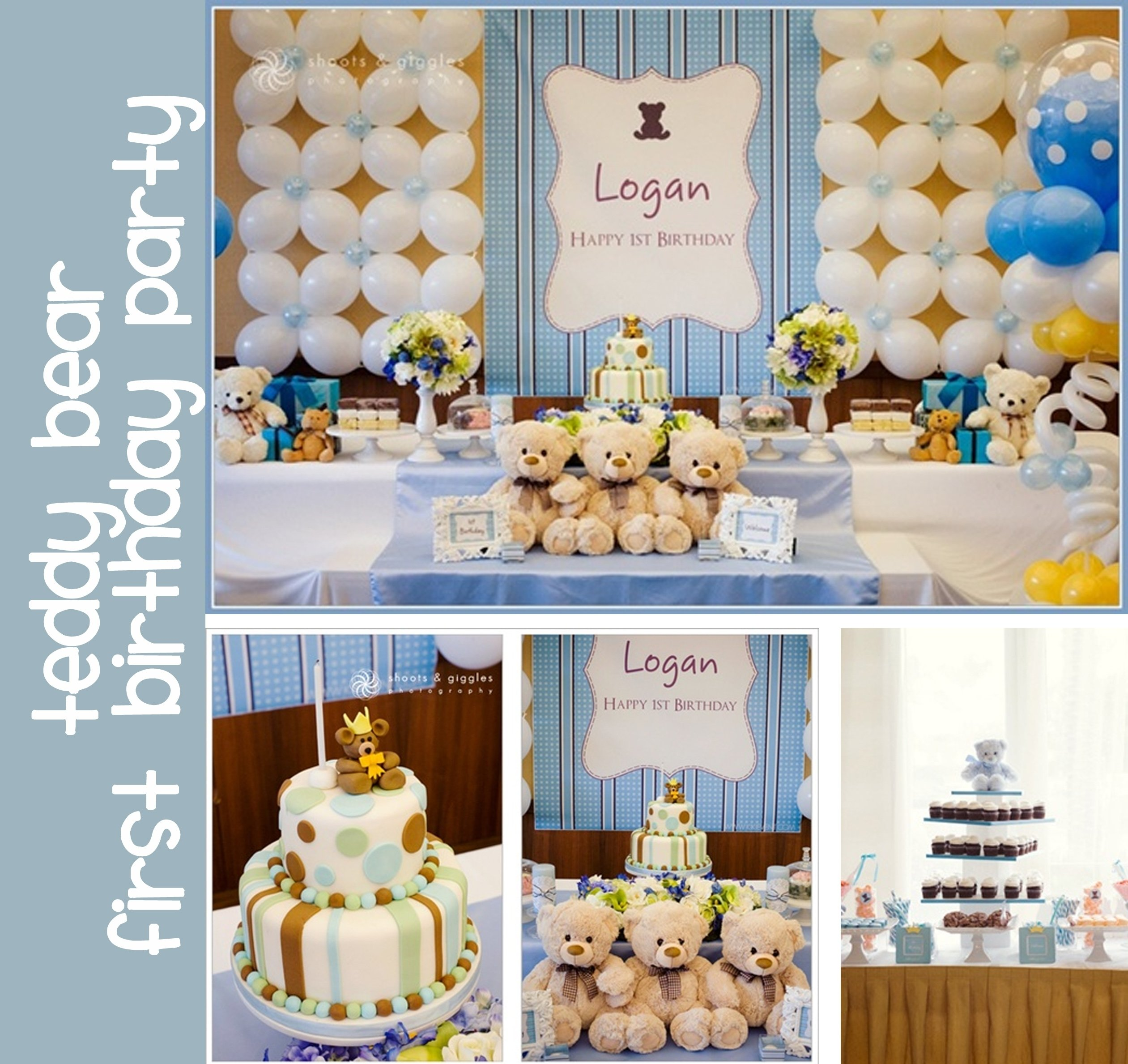 baby first birthday ideas for boy | first birthday teddy bear theme