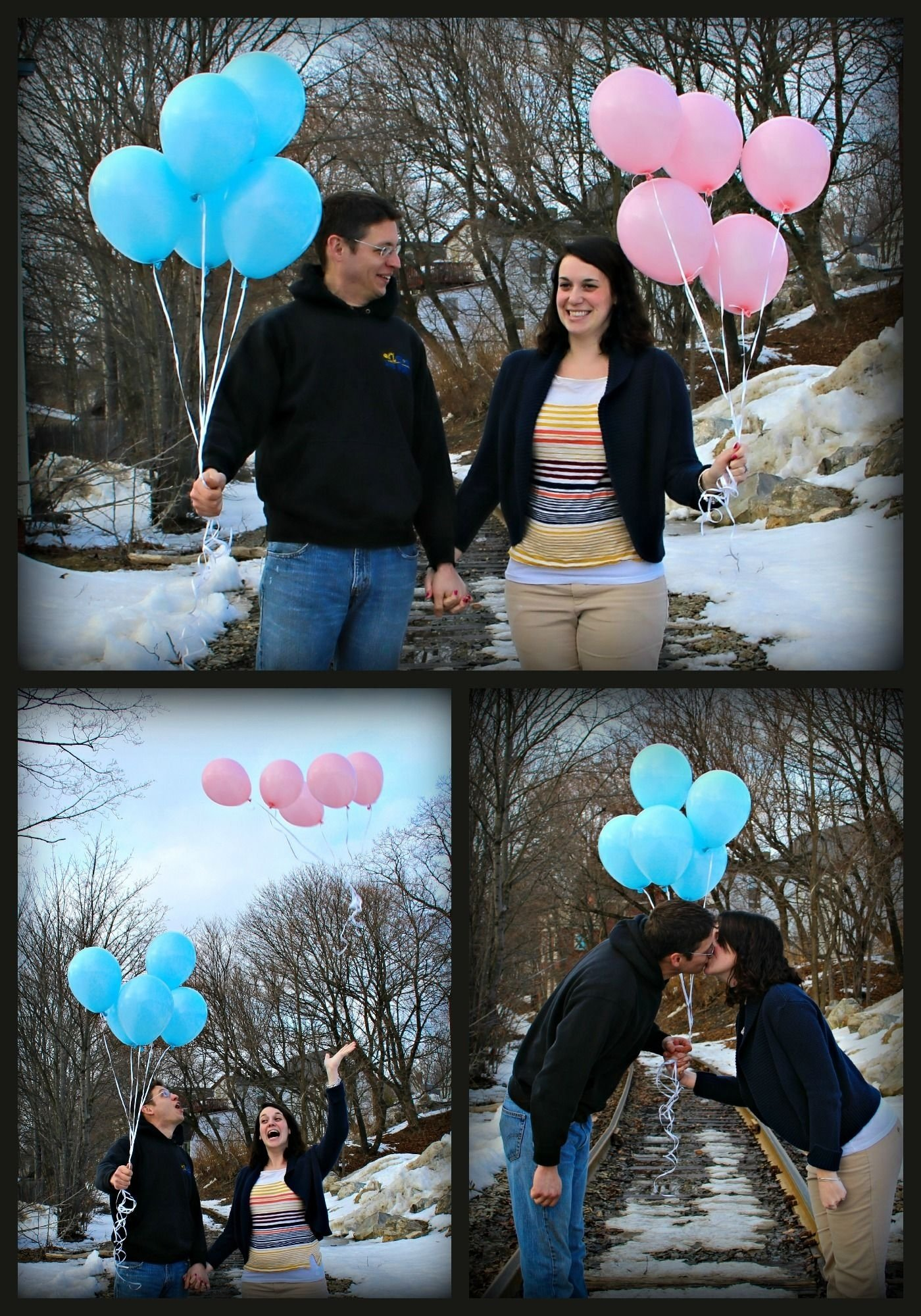 baby gender reveal--i really like this it's super simple but cute