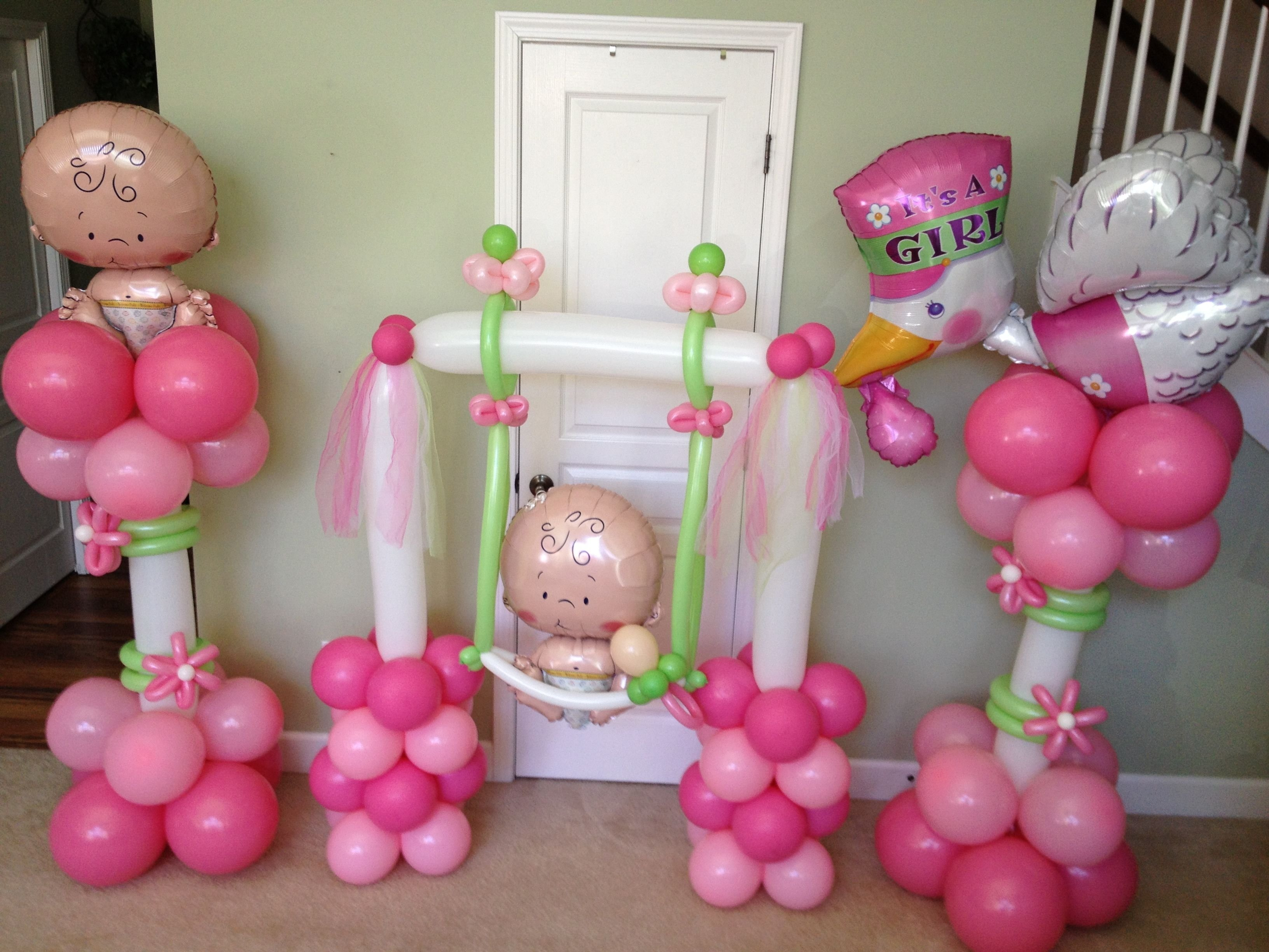 10 Nice Baby Shower Balloon Decoration Ideas baby girl balloon decorations baby shower balloons pinterest 1 2020