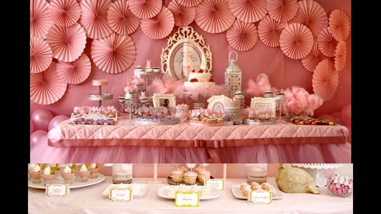 10 Lovely Baby Girl Birthday Party Ideas baby girl birthday party themes decorations at home youtube 1 2020