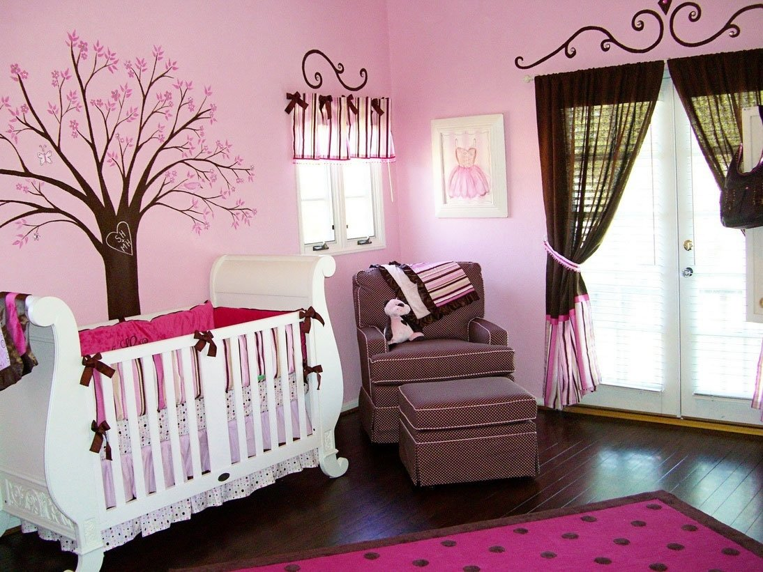 baby girl nursery ideas pink and brown - decosee