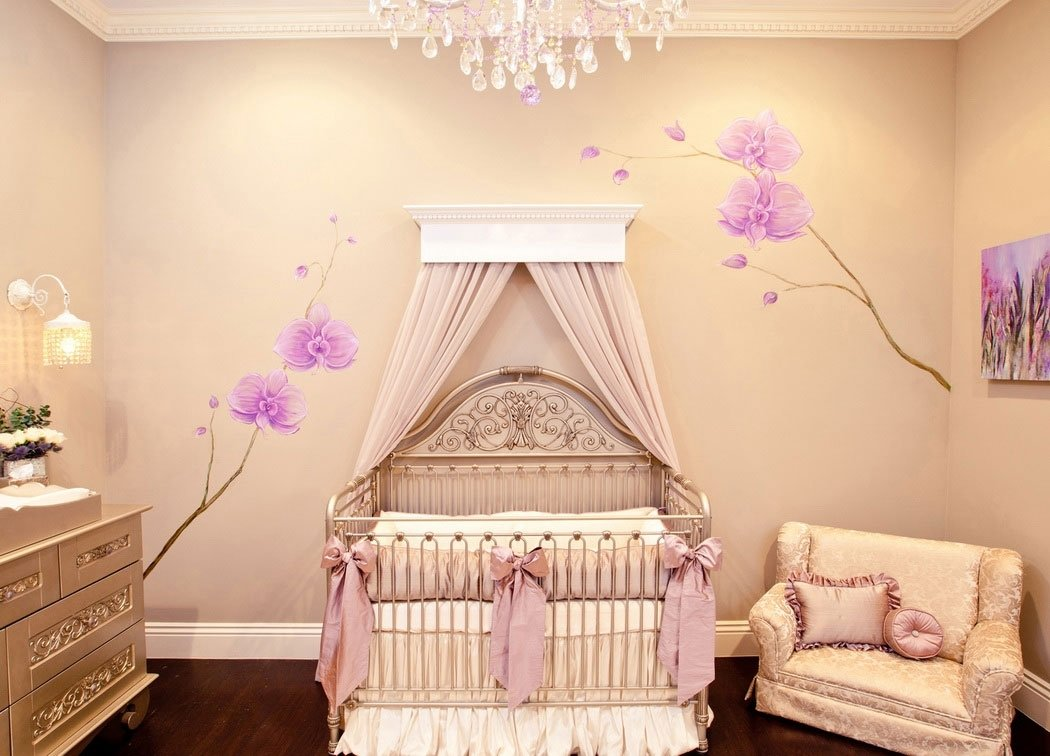 10 Spectacular Baby Nursery Ideas For Girls baby girl nursery theme rooms with lacy pillows and beautiful 1 2021