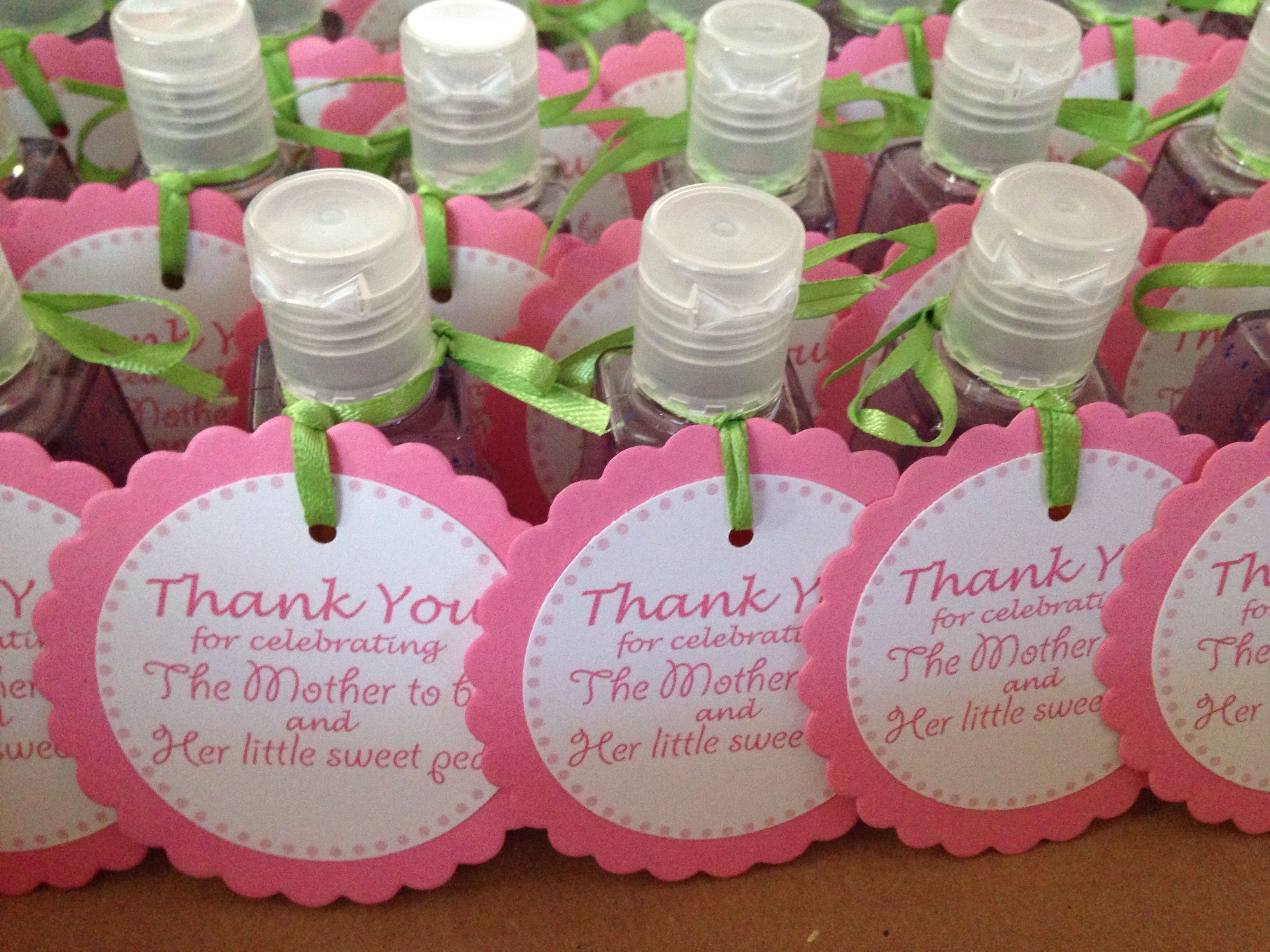 10 Fabulous Baby Shower Favor Ideas Girl baby girl shower favors sweet pea sanitizers from bathbody works 1 2020