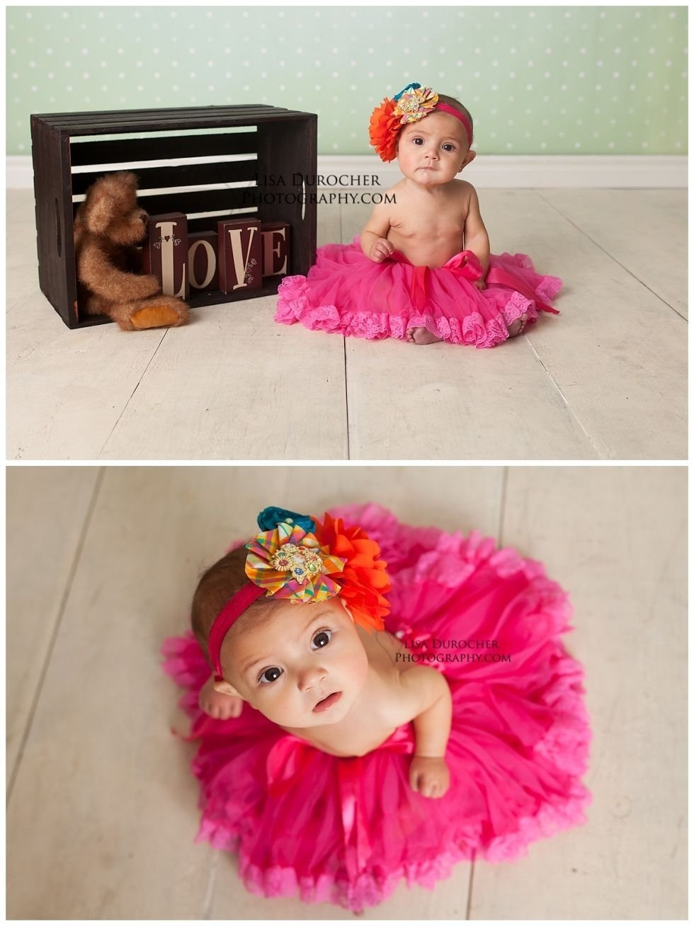 10 Attractive 6 Month Photo Shoot Ideas Girl baby girl six month session love sweet little tutus lisa