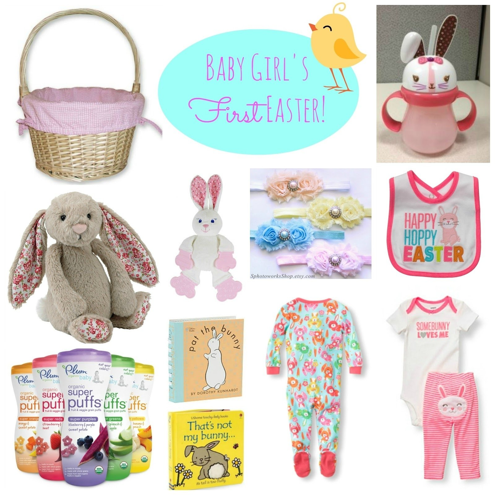 10 Stylish Baby First Easter Basket Ideas baby girls first easter basket ideas with links for purchasing