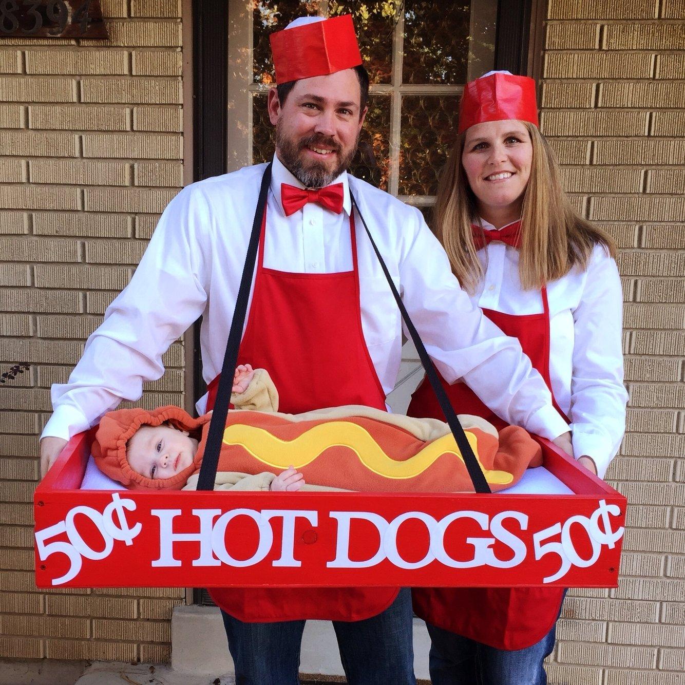 10 Amazing Family Halloween Costume Ideas With Baby baby hotdog costume family halloween costumes family halloween 2021