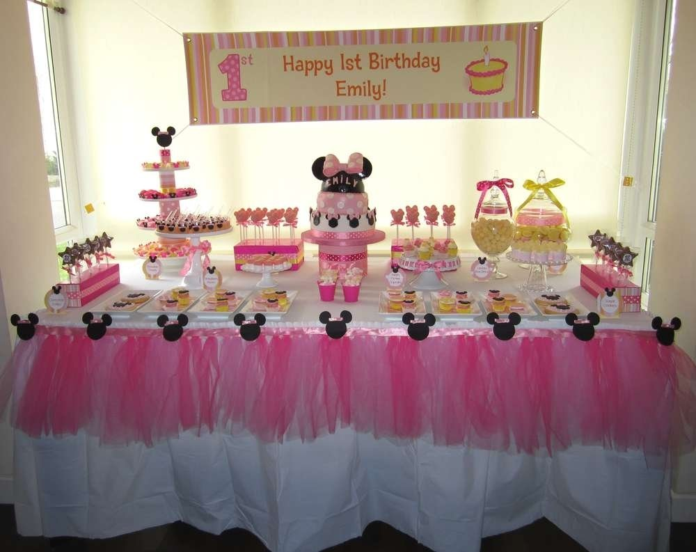 10 Fashionable Baby Minnie Mouse 1St Birthday Party Ideas baby minnie mouse 1st birthday decorations margusriga baby party 1