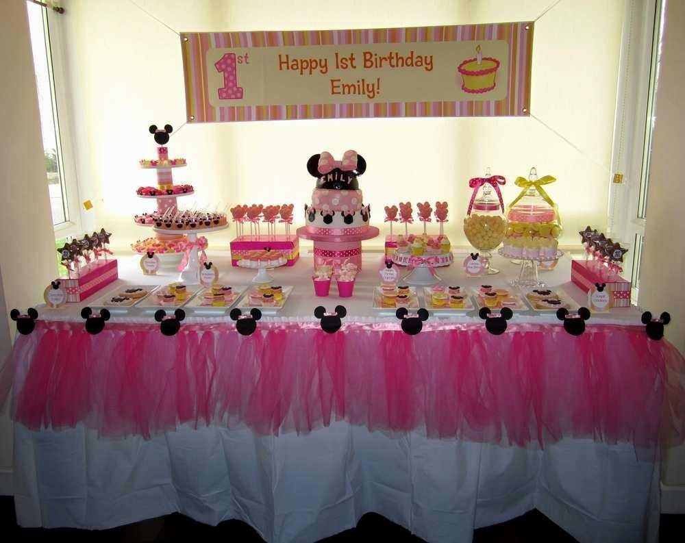 10 Trendy Minnie Mouse First Birthday Party Ideas Baby Decorations Archives Decorating