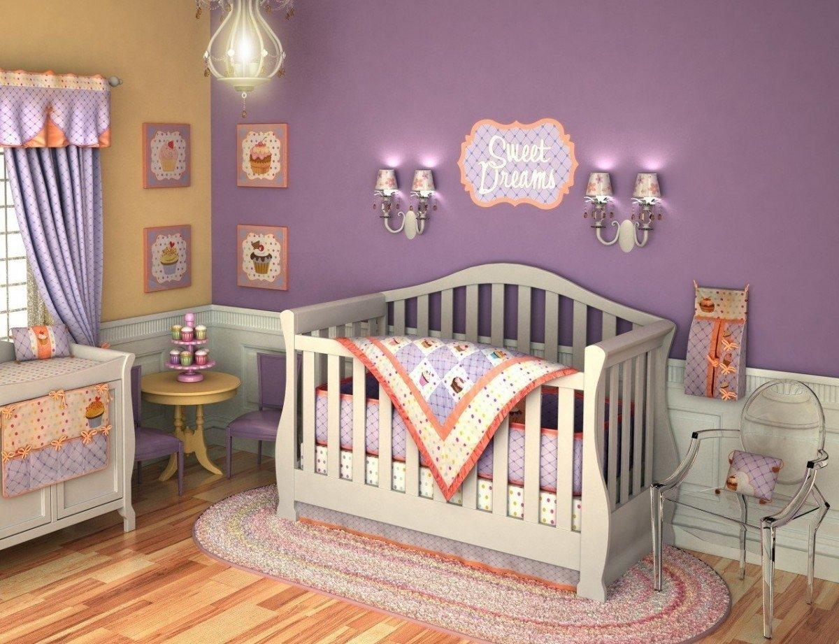10 Fabulous Baby Girl Themed Nursery Ideas baby nursery decor purple baby girl themed nursery ideas wall 2021