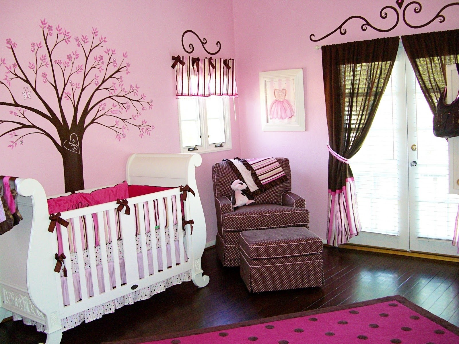 10 Gorgeous Ideas For Baby Girl Nursery baby nursery lovely pink crib bedding pink and brown baby girl 2021
