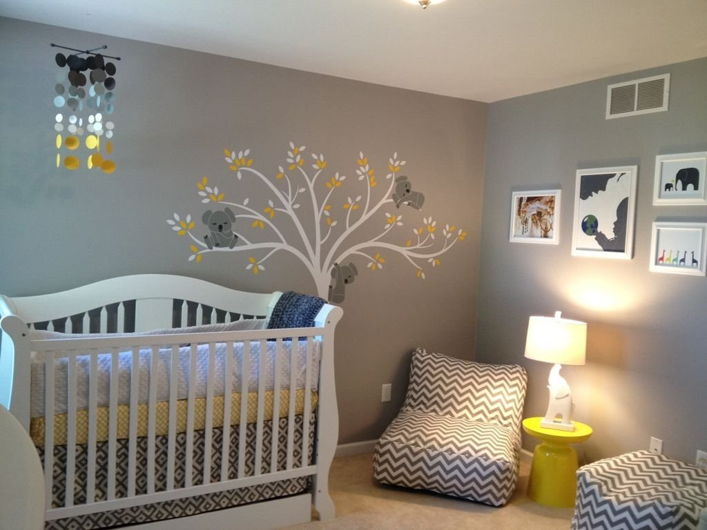 10 Fashionable Yellow And Gray Nursery Ideas baby room amazing gray themed baby nursery room design with yellow 2020