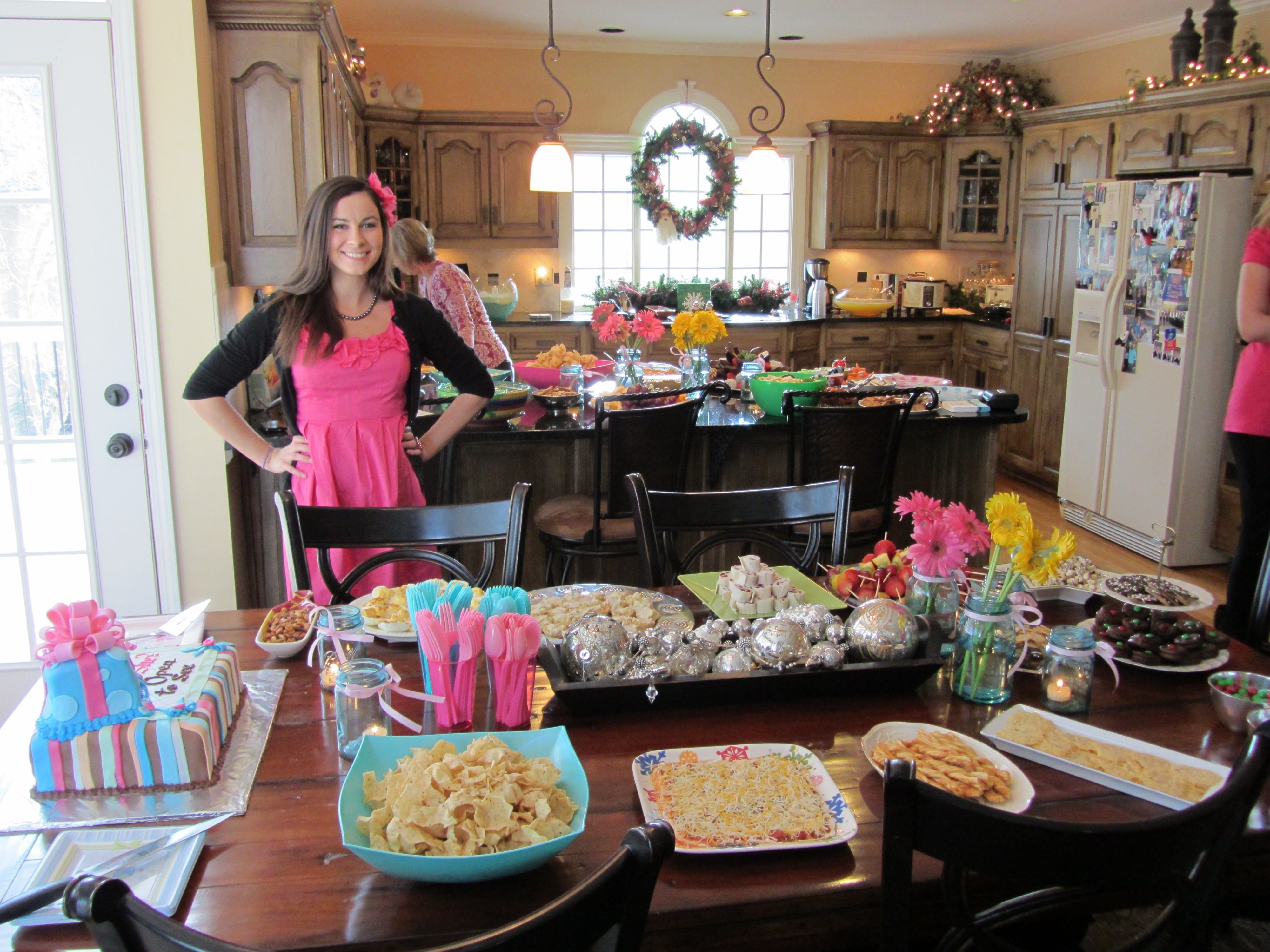 baby shower and gender reveal party food- all of the food was any
