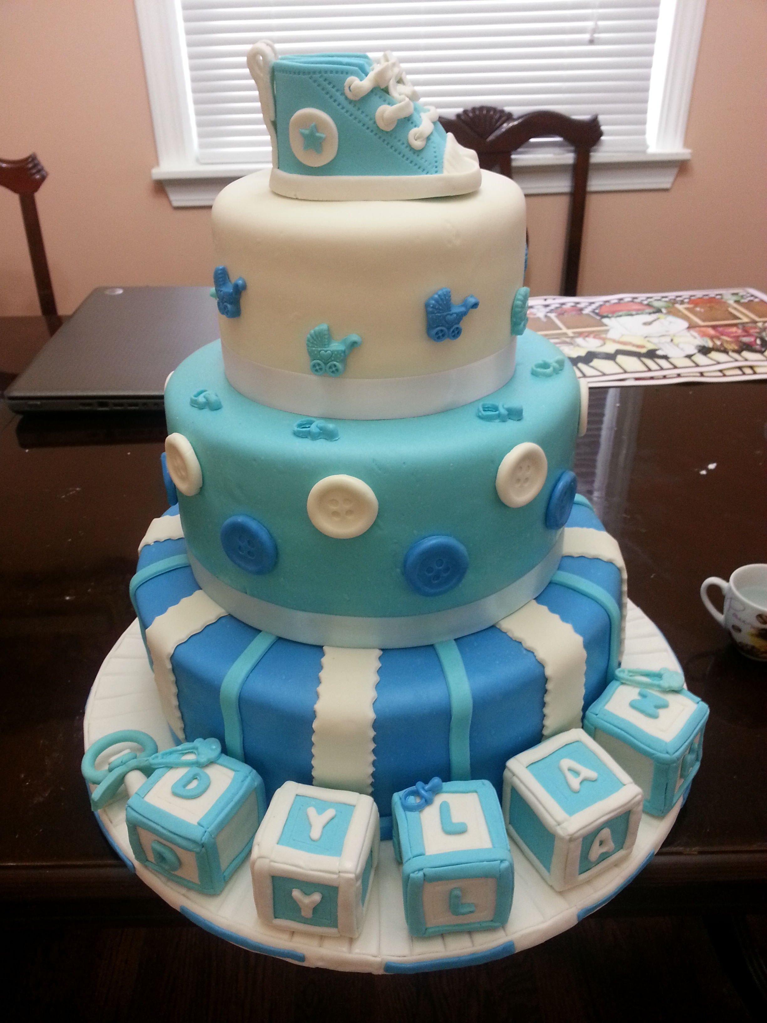 10 Stunning Baby Boy Baby Shower Cake Ideas baby shower baby shower cakes boys pinterest babies cake 2 2020