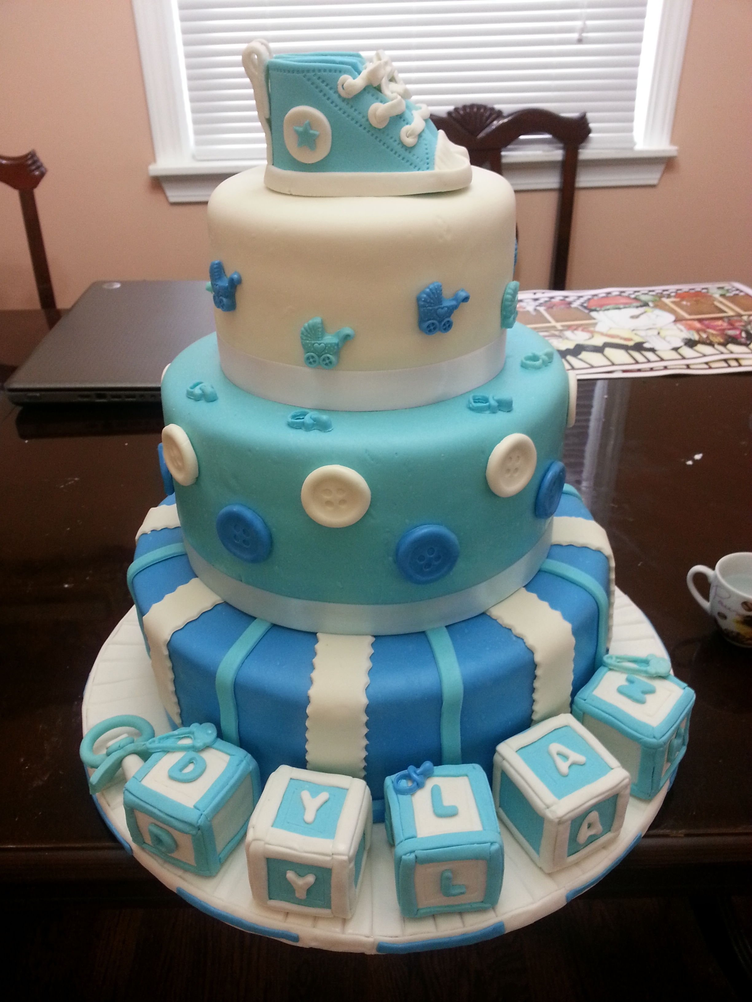 10 Great Baby Shower Cake Ideas For Boy baby shower baby shower cakes boys pinterest babies cake 3 2020
