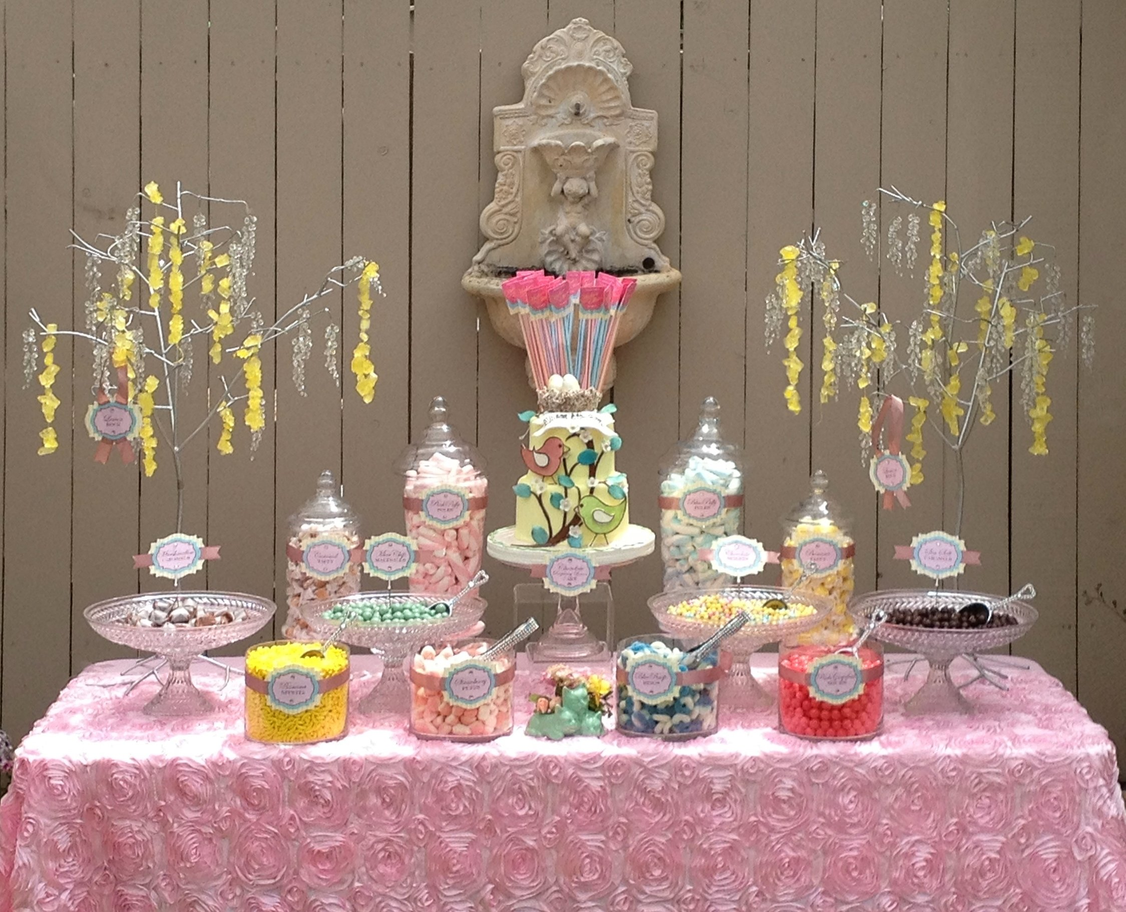 10 Attractive Candy Bar Ideas For Baby Shower baby shower baby shower candy buffet ideas bar tables cheap all 2020