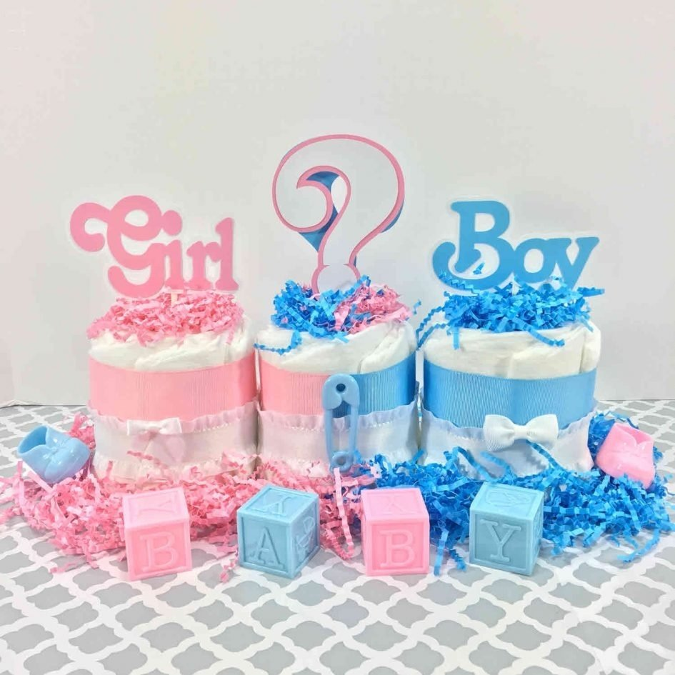 10 Trendy Gender Reveal Baby Shower Ideas baby shower baby shower diaper cakes girl or boy gender reveal 1 2020
