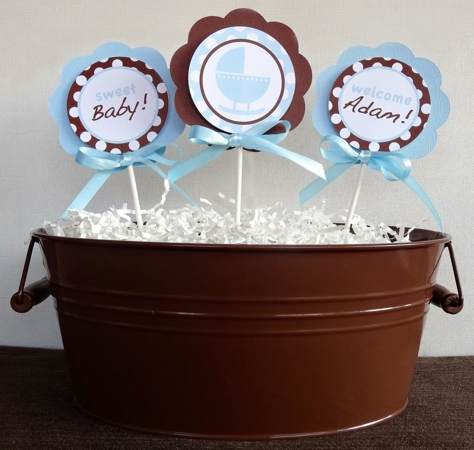 10 Perfect Brown And Blue Baby Shower Decorating Ideas baby shower blue baby shower decorations best baby shower