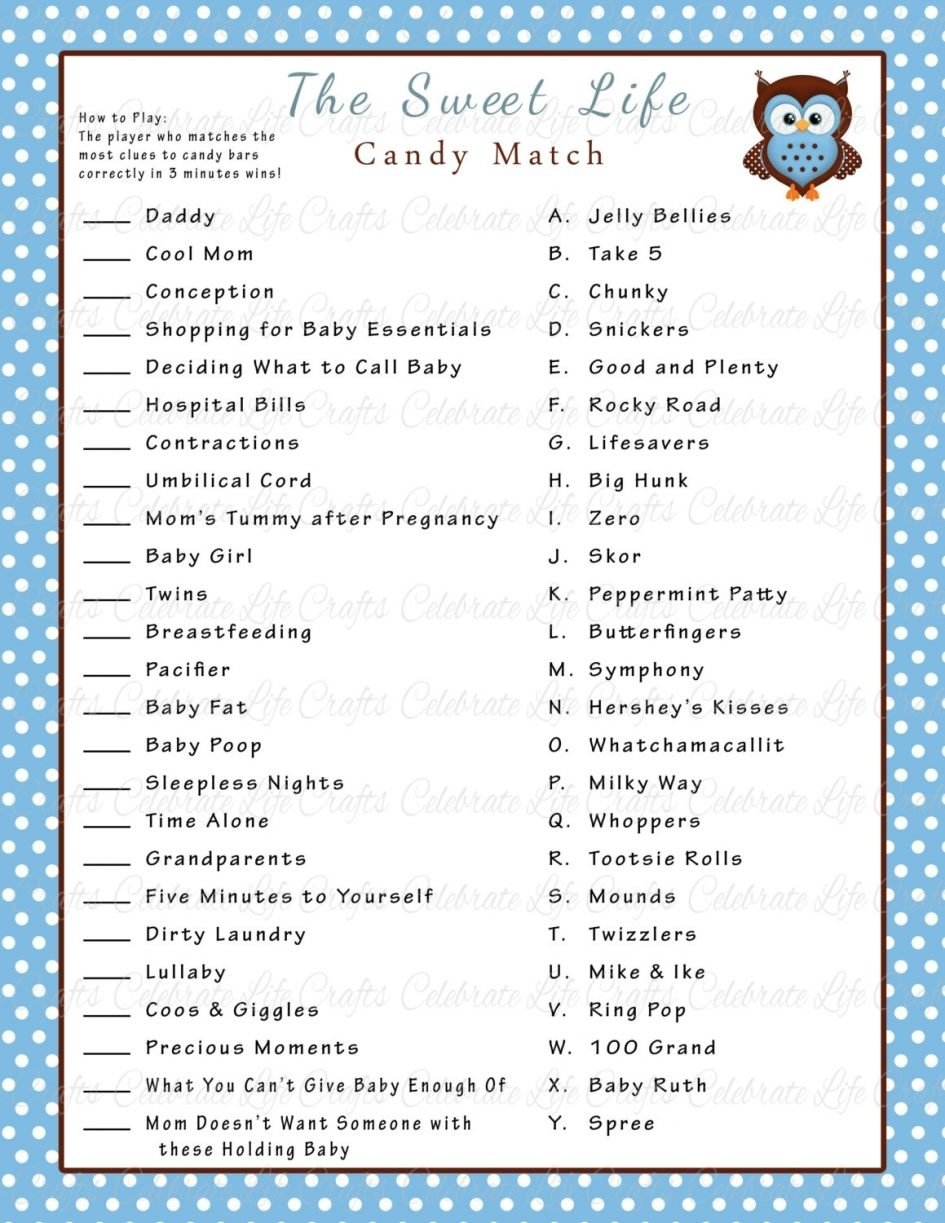 10 Perfect Boy Baby Shower Game Ideas baby shower boy baby shower games baby shower sweet life candy bar 2020
