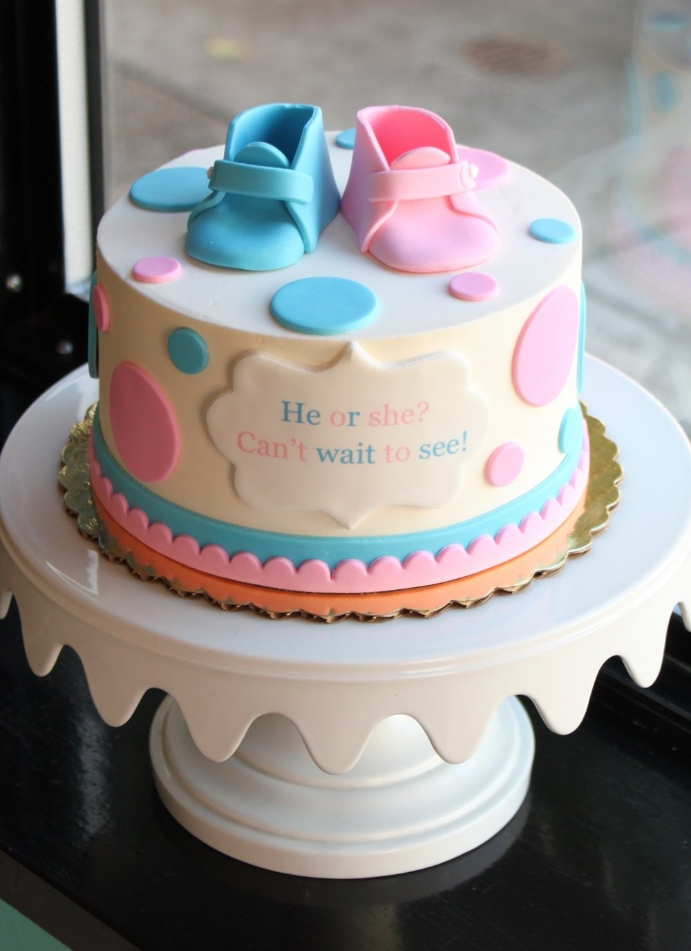 10 Beautiful Baby Gender Reveal Cake Ideas baby shower cake ideas booties unique baby booties gender reveal 2020