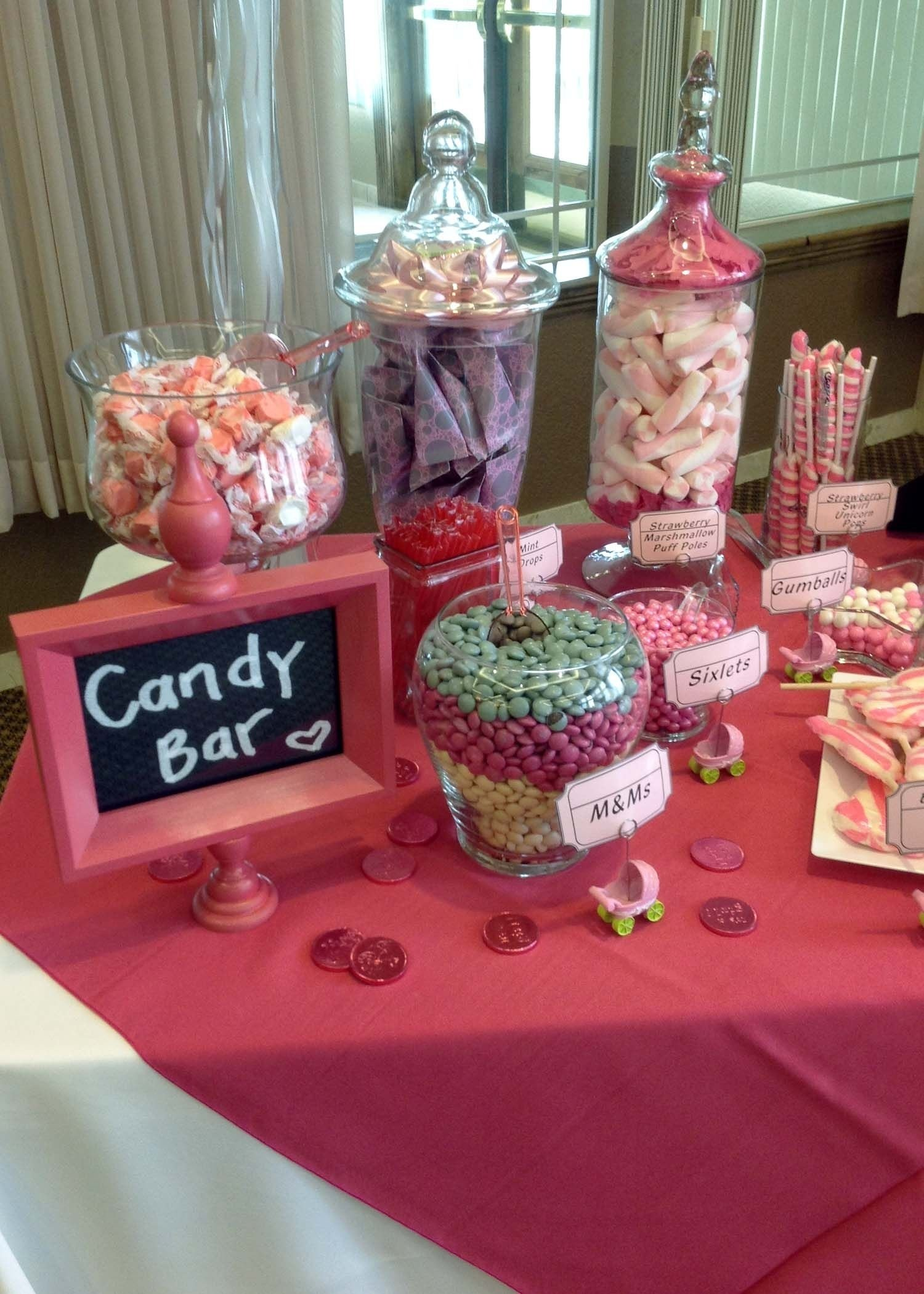 10 Elegant Baby Shower Candy Bar Ideas baby shower candy bar could find baby themed items and make up baby 2021