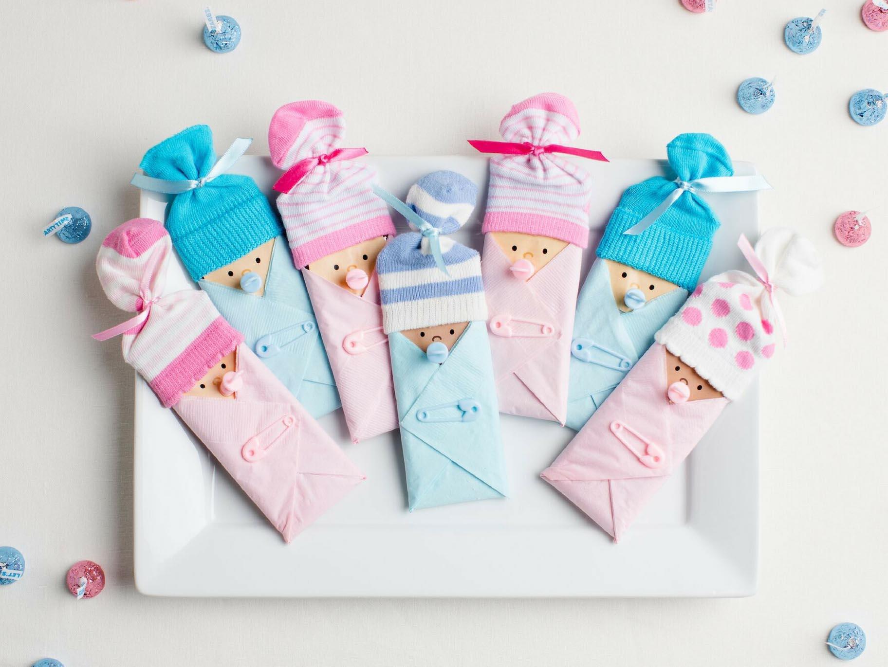 10 Lovely Girl Baby Shower Favors Ideas baby shower candy bar favor idea 2020