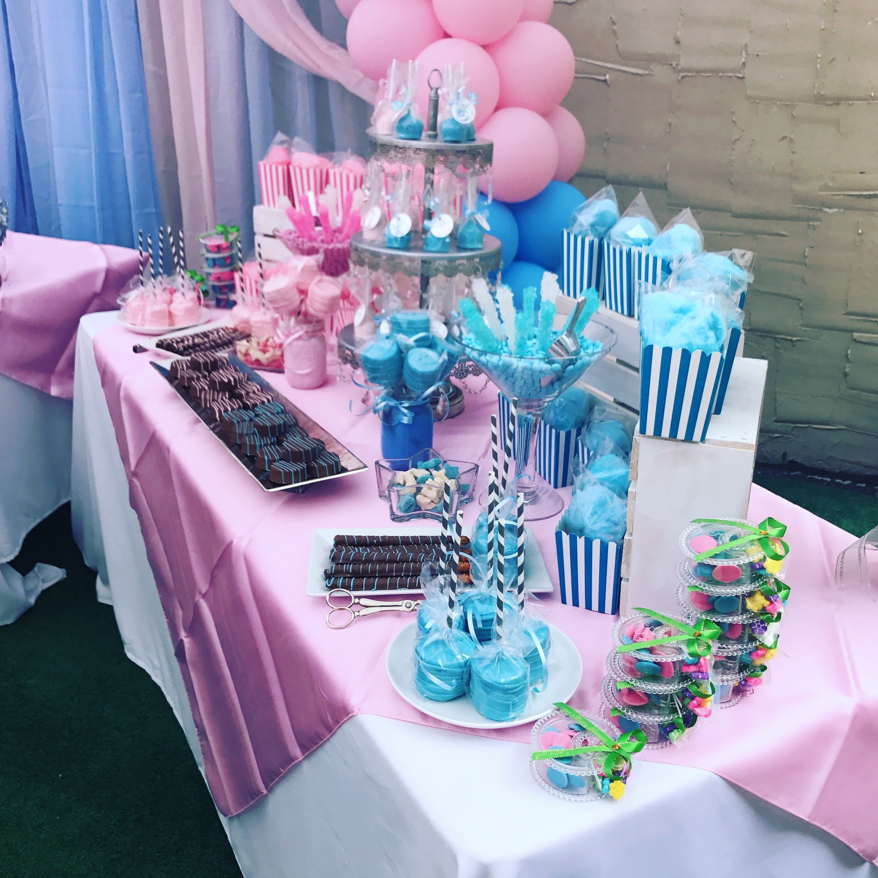 10 Unique Candy Buffet Ideas For Baby Shower baby shower candy table that we made for a gender reveal party 2020