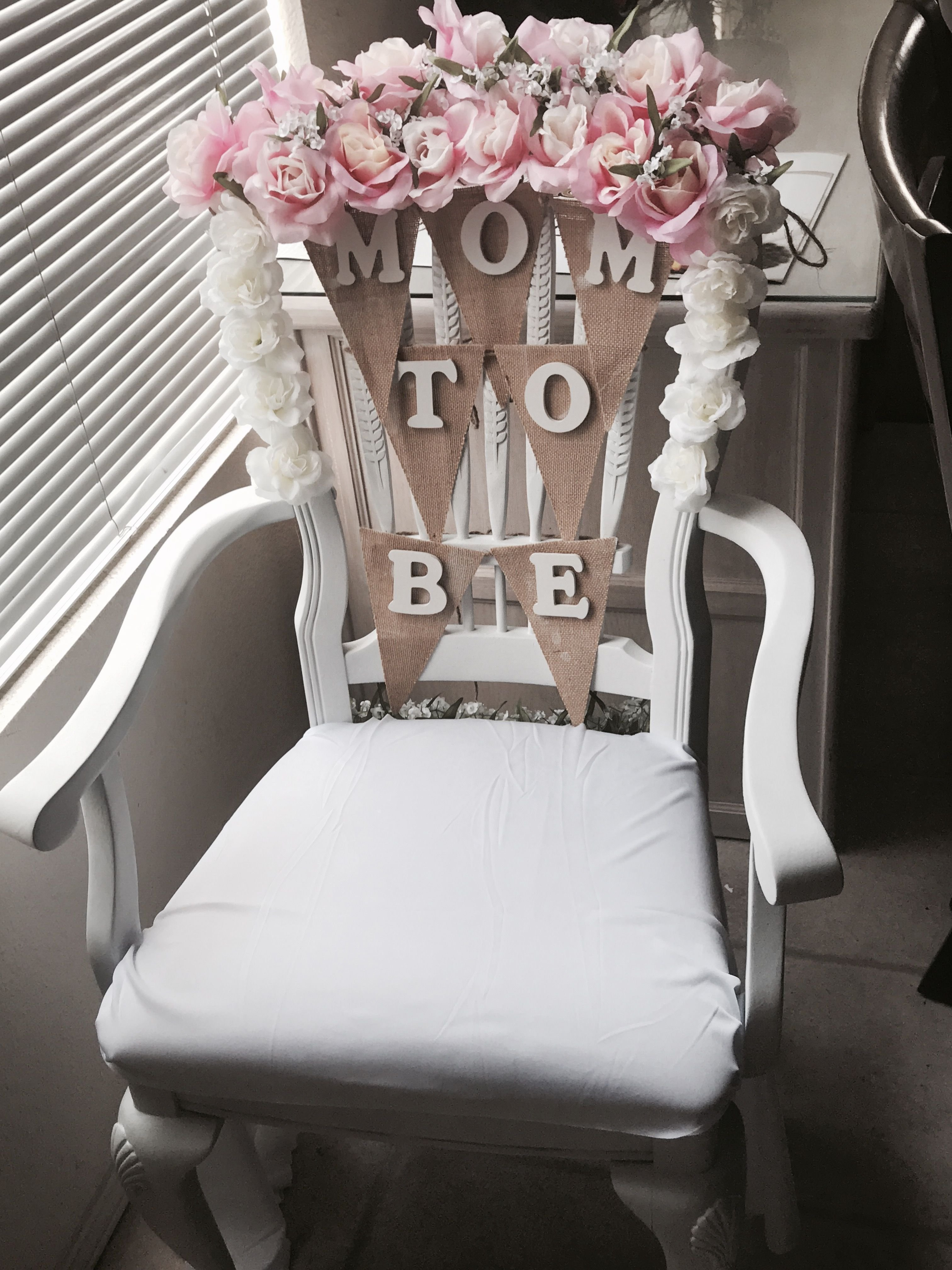 10 Fantastic Baby Shower Chair Decoration Ideas baby shower chair idea flowers from walmart wood letters from 2021