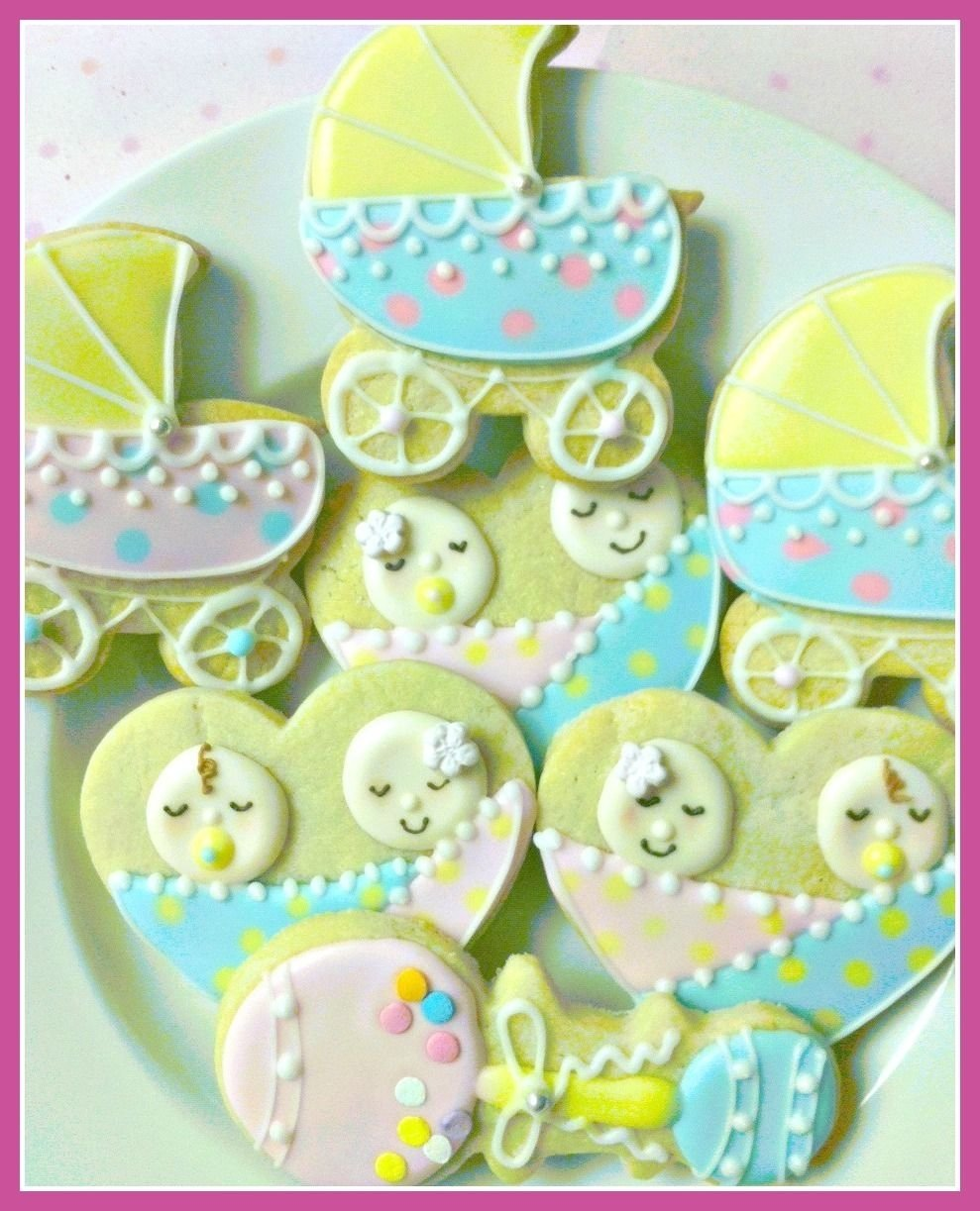 10 Elegant Ideas For Twin Baby Shower baby shower cookies sweet dough recipes pinterest baby 2021