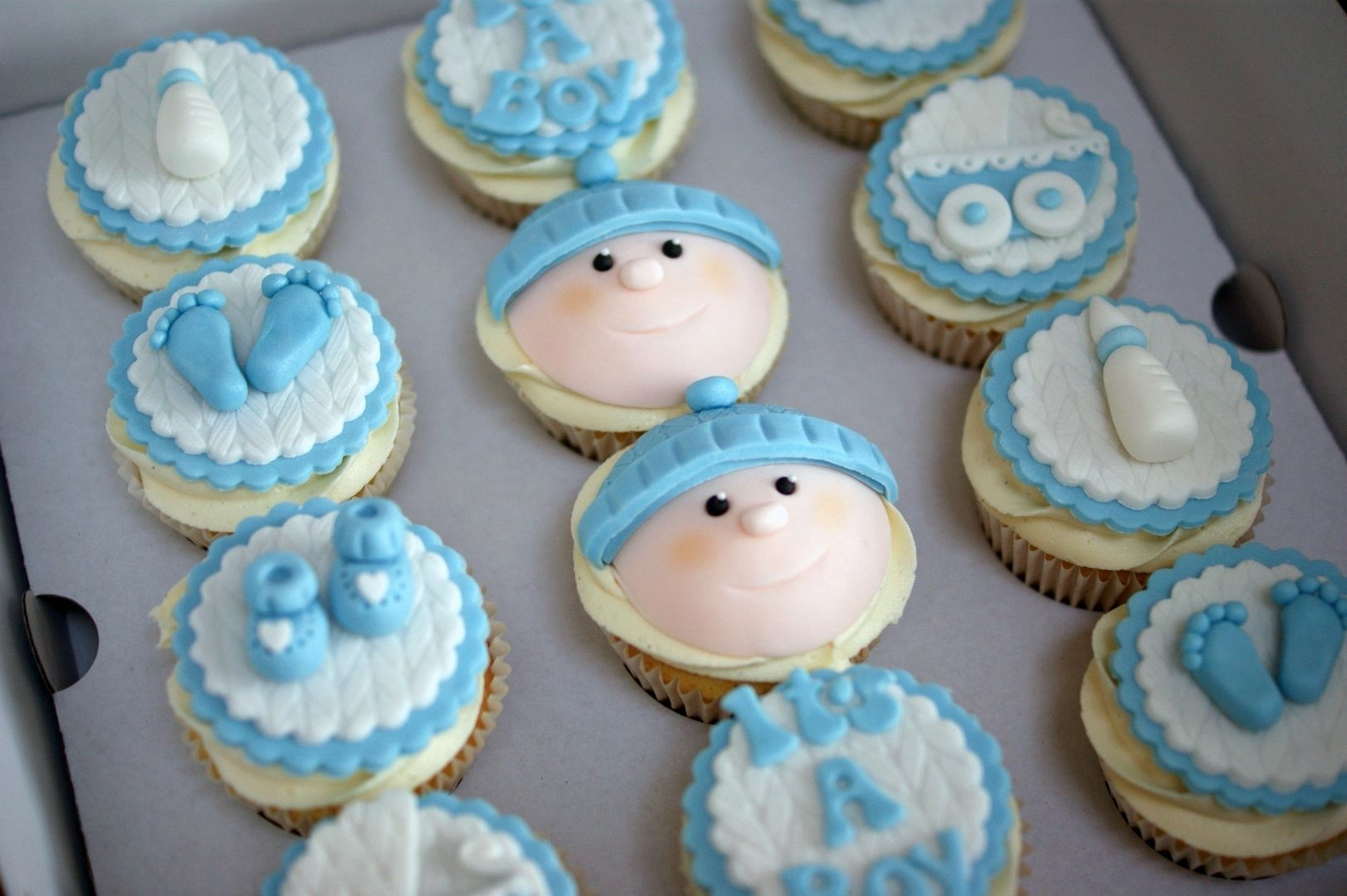 10 Great Baby Shower Cake Ideas For Boy baby shower cupcake decorations boy cake toppers foras pinterest 1 2020