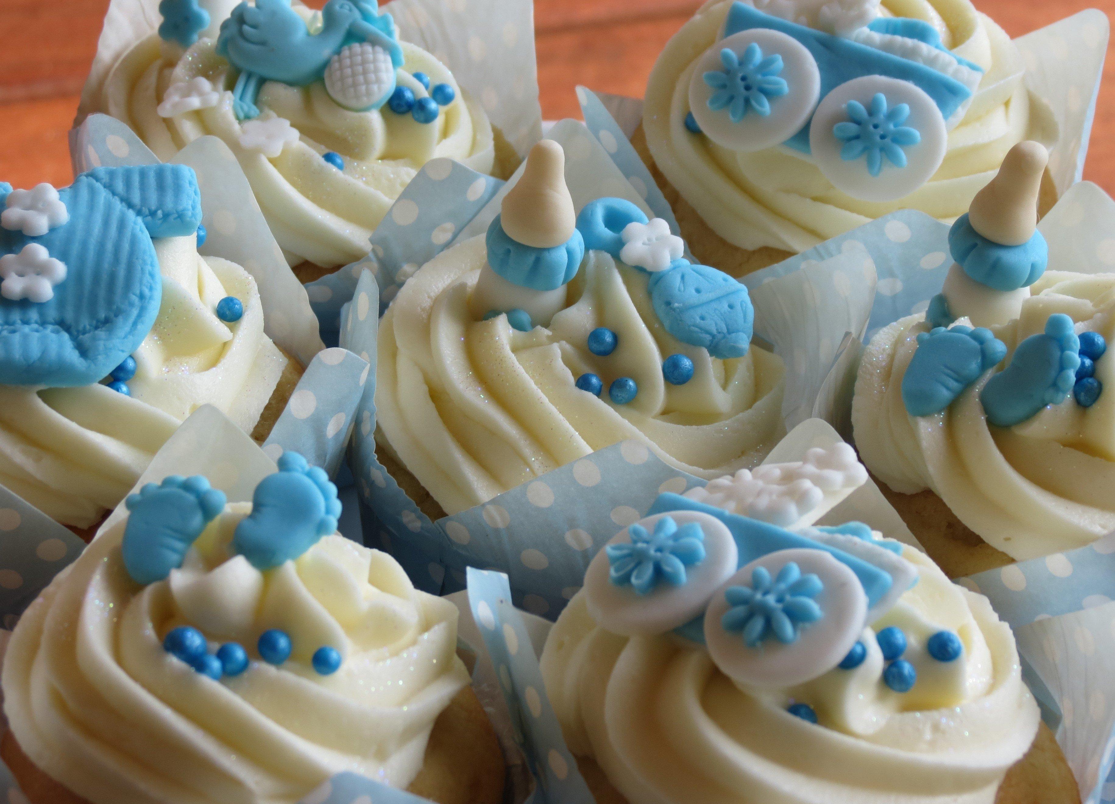 10 Fantastic Boy Baby Shower Cupcake Ideas
