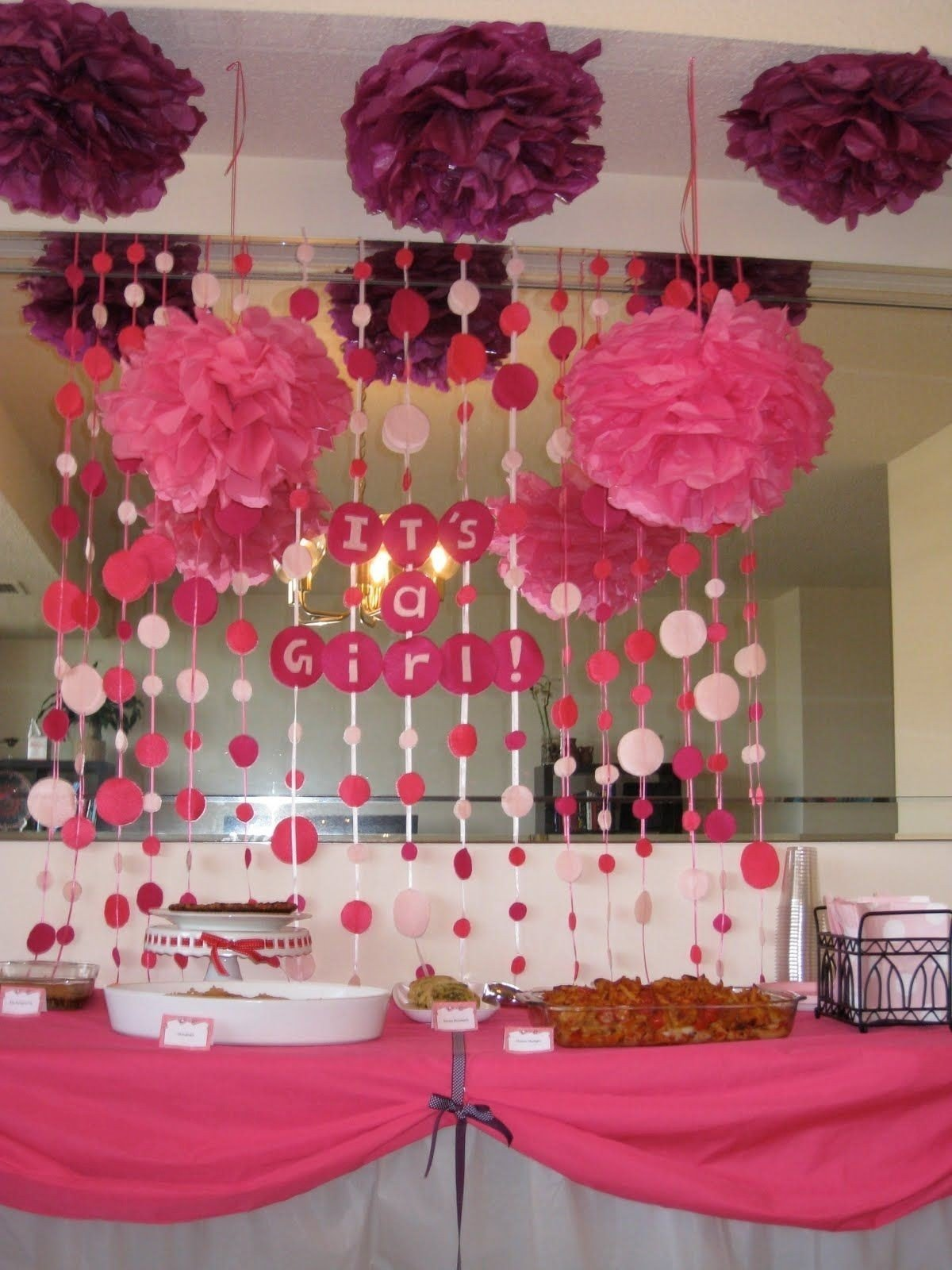 10 Nice Baby Shower Ideas For Girls Decorations baby shower decoration ideas for girl best baby shower centerpiece 1