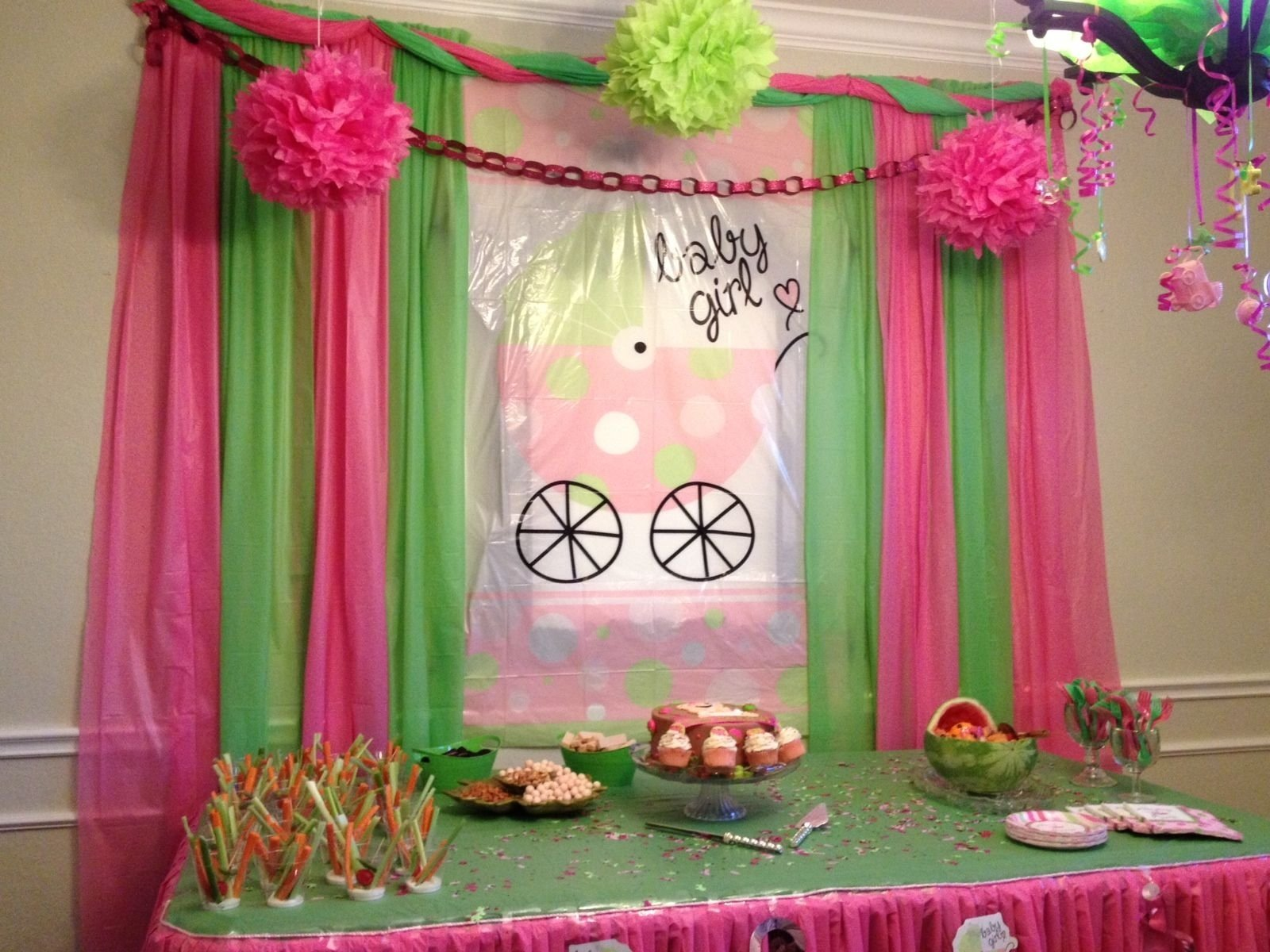 10 Famous Pink And Green Baby Shower Ideas