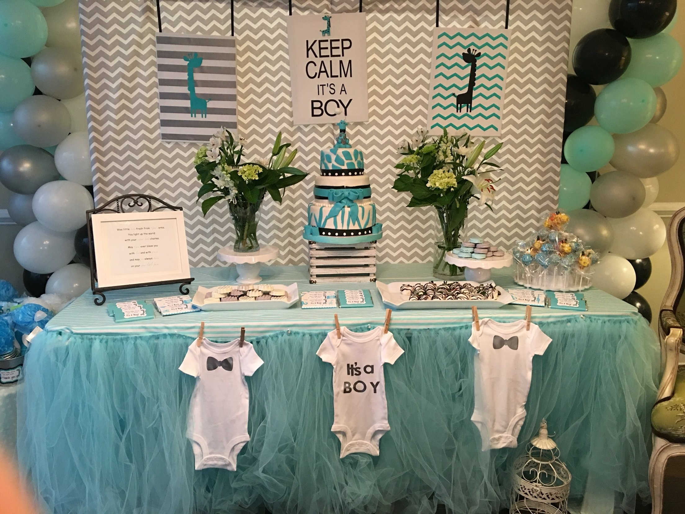 10 Perfect Baby Boy Shower Centerpiece Ideas baby shower decorations for boy baby shower boy baby shower 2020
