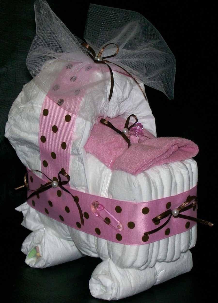 baby shower diaper cake ideas for girls - baby shower cakes