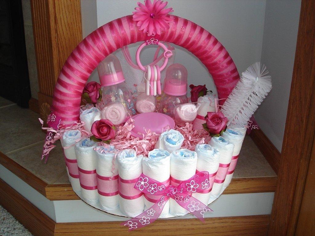 10 Fantastic Diaper Cake Ideas For Girls baby shower diaper cakes popsugar moms 1 2020