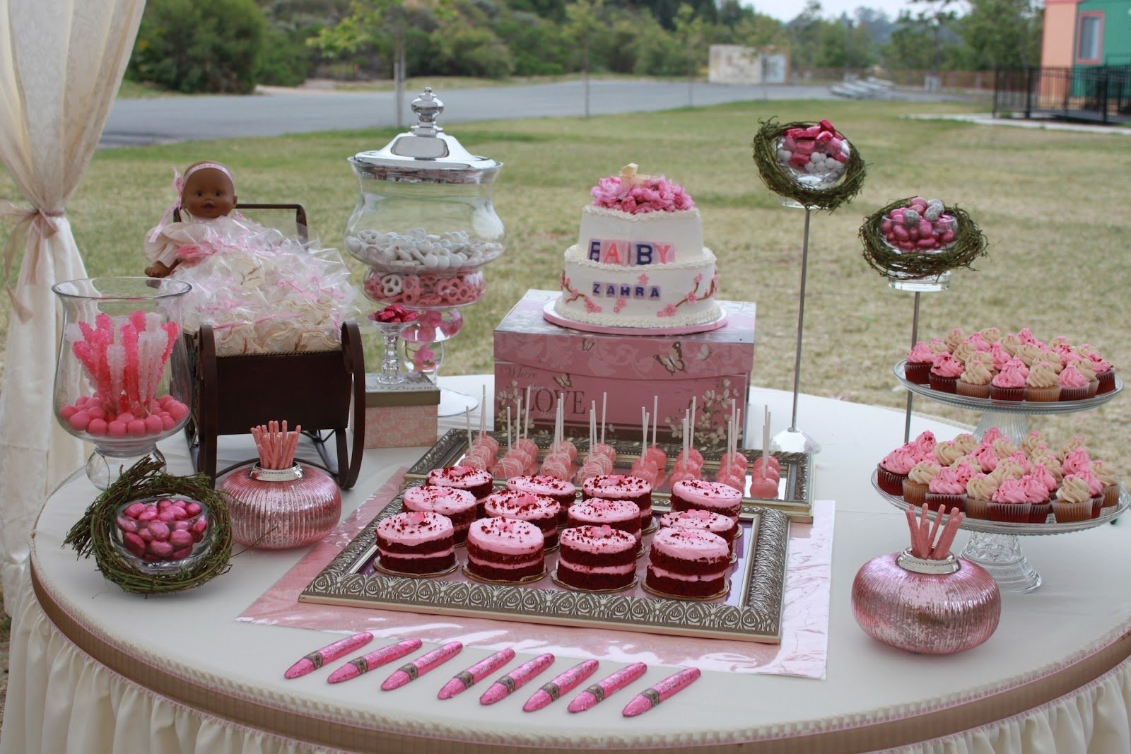 10 Stylish Pink And Gray Baby Shower Ideas baby shower food ideas baby shower food pink 2 2020