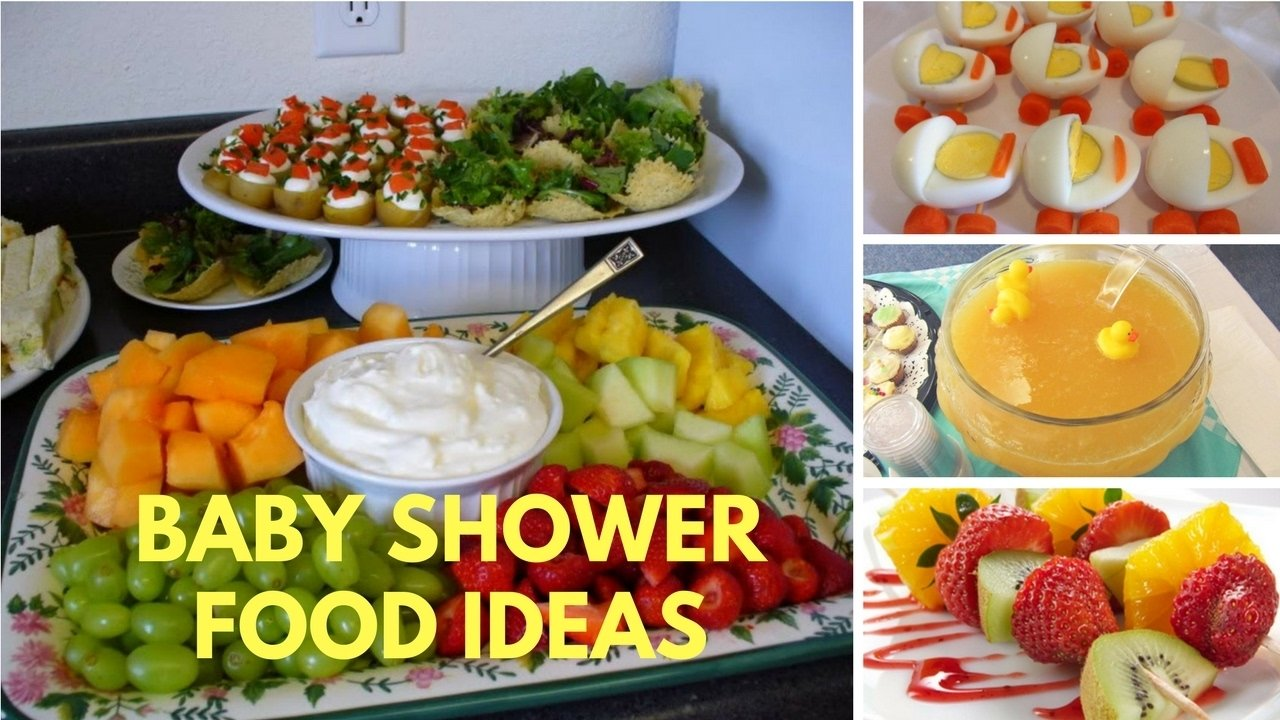 10 Stylish Food For Baby Shower Ideas baby shower food ideas on a budget theme and decoration youtube 4 2020