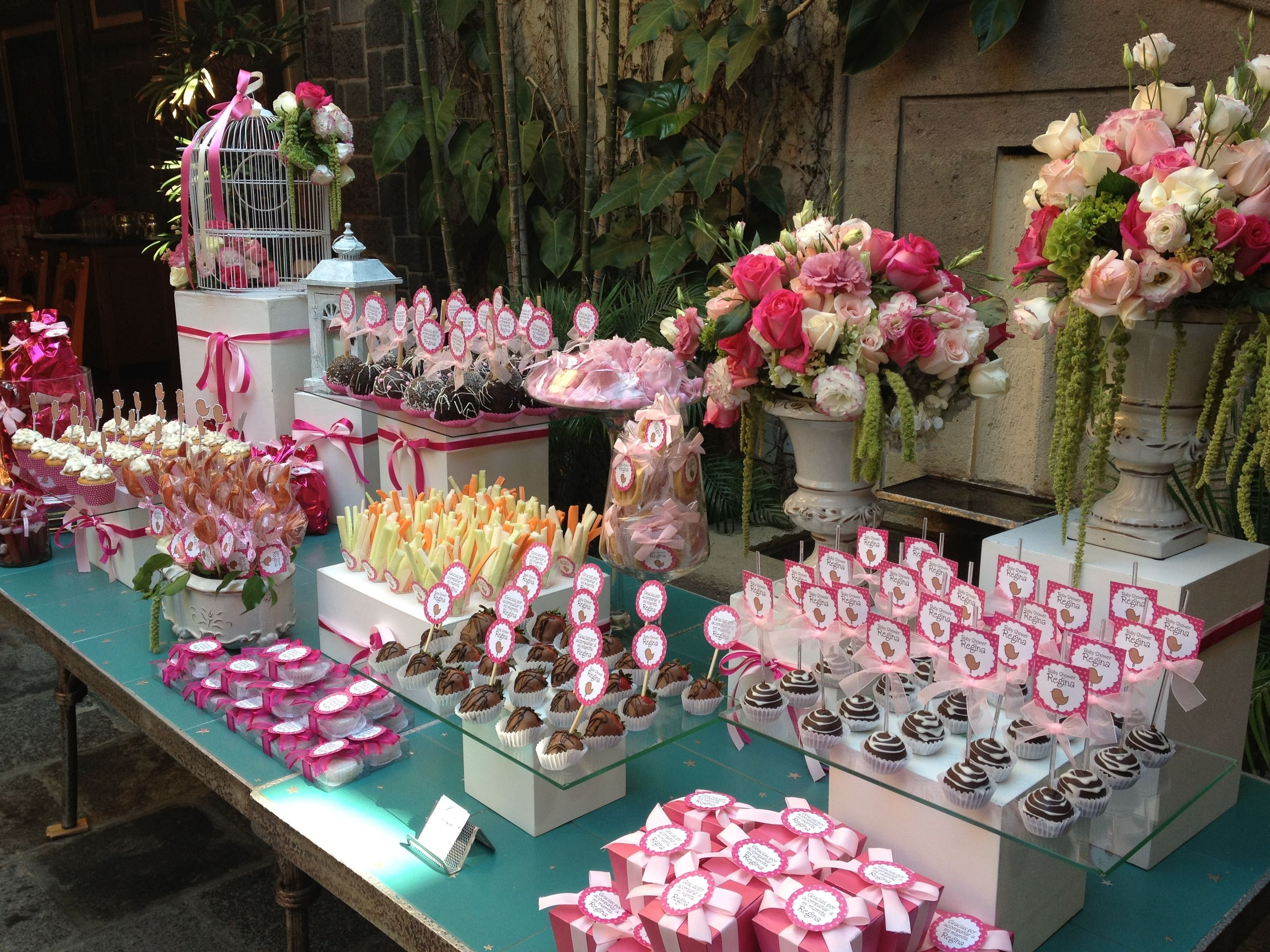 10 Gorgeous Ideas For Centerpieces For Baby Shower baby shower girl babyshower party baby shower ideas pinterest 2 2021