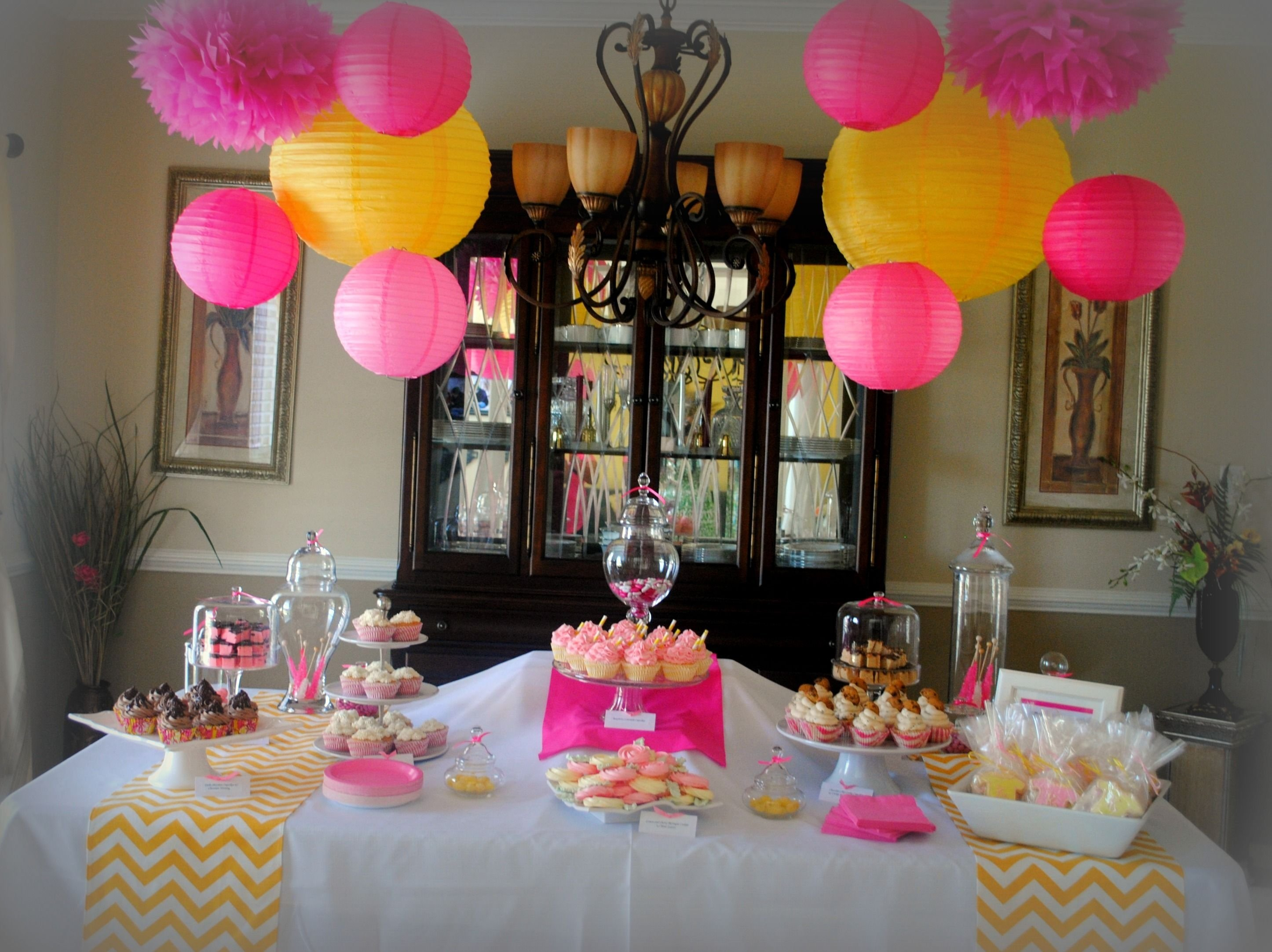 baby shower-girl like yellow and hot pink | baby shower | pinterest