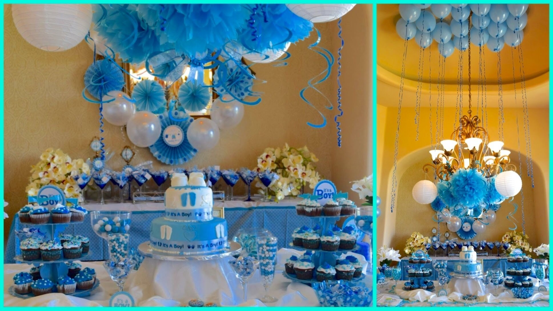 10 Ideal Ideas For A Baby Boy Shower baby shower ideas for boy blue theme youtube 32 2021