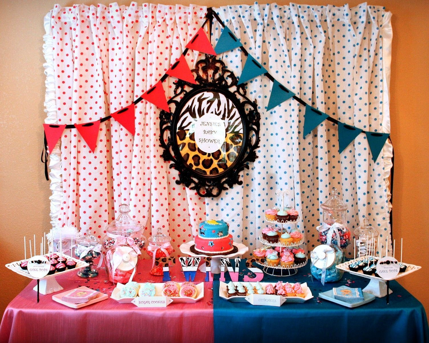 baby shower ideas for twins boy and girl imposing theme gift