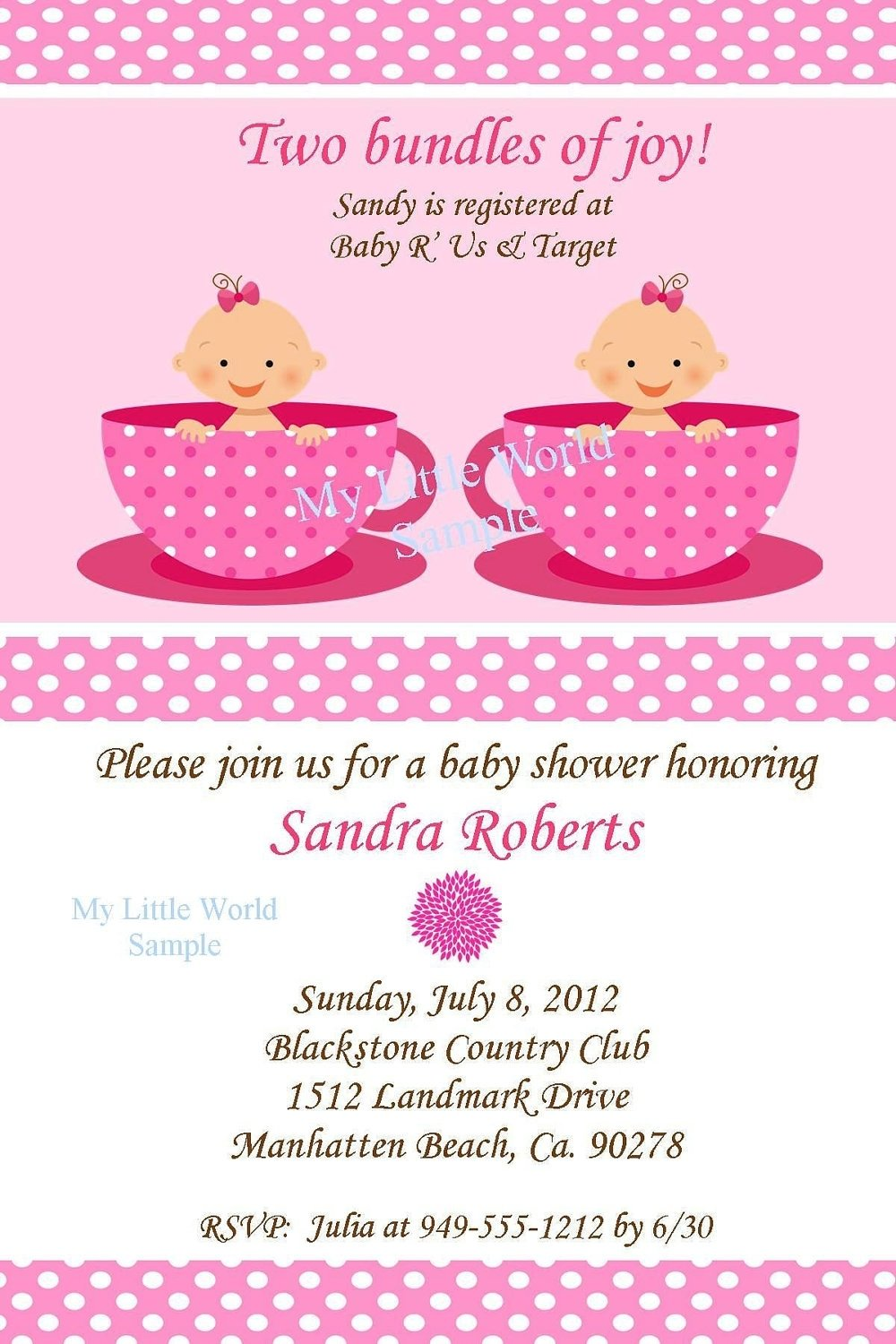 10 Fantastic Twin Girl Baby Shower Ideas