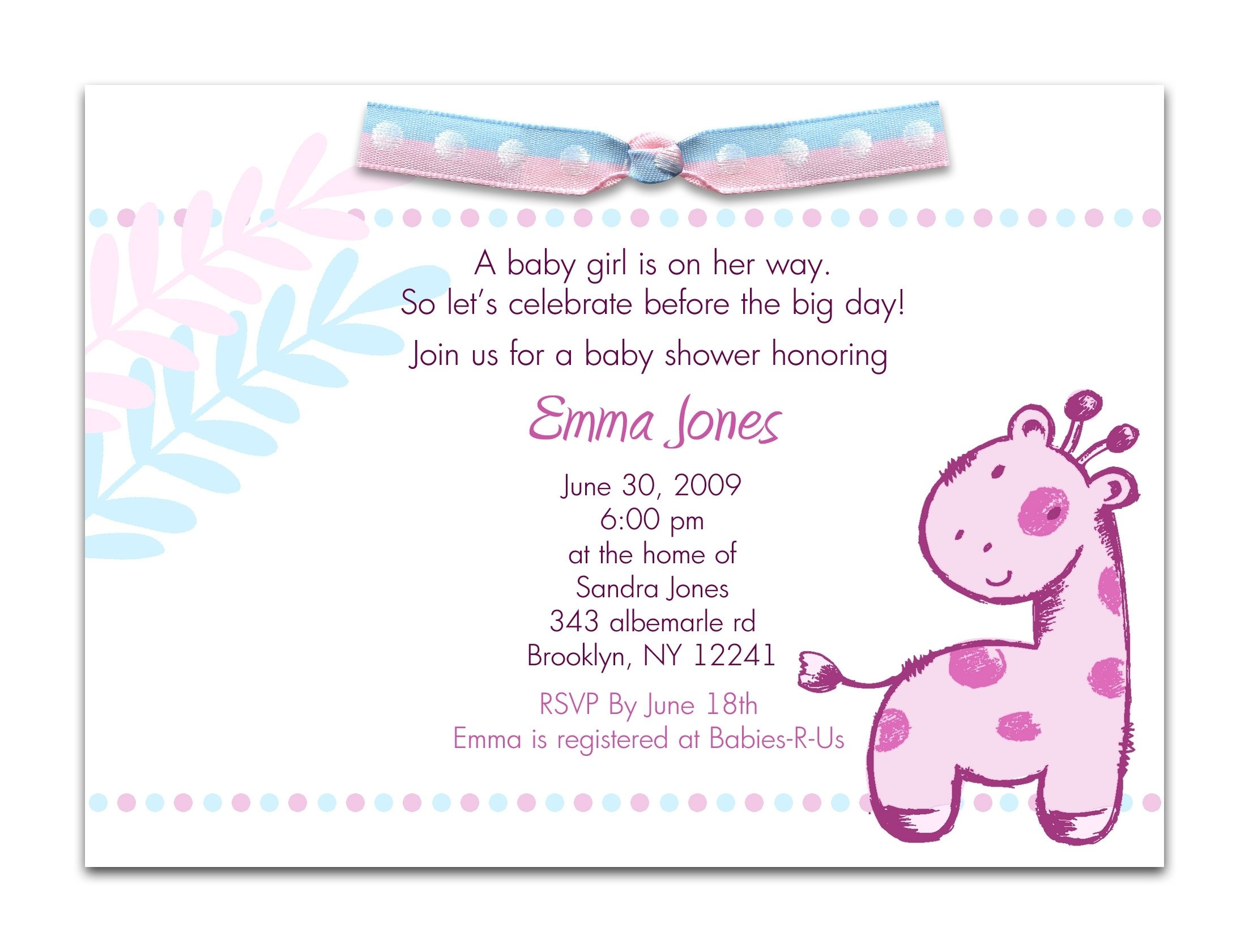 baby shower invite words - coles.thecolossus.co