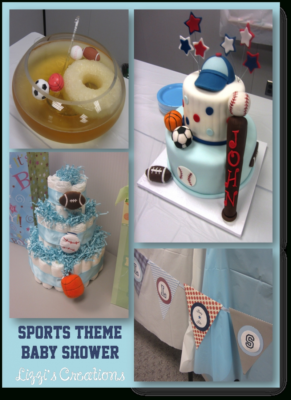 10 Ideal Sports Themed Baby Shower Ideas baby shower sports themed baby shower lizzis creations sports