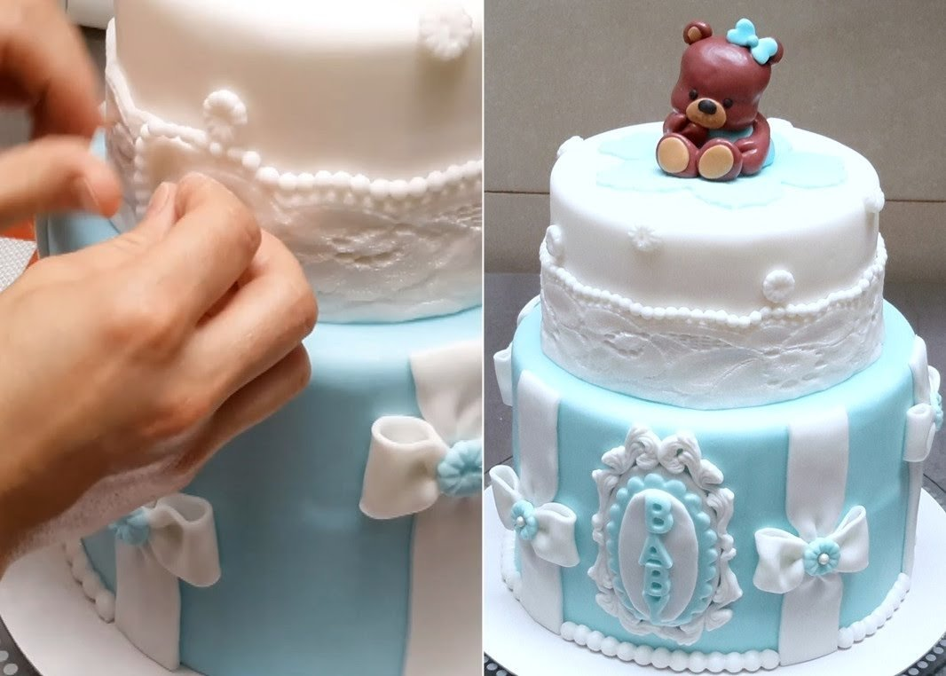 10 Wonderful Ideas For Baby Shower Cakes baby shower teddy bear cake how to makecakes stepbystep youtube 2020