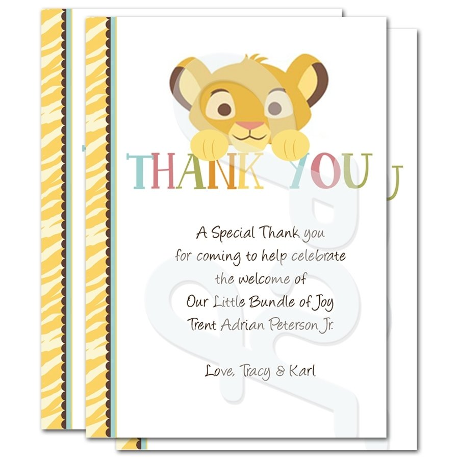 Unique Thank You Card Ideas: 10 Cute Baby Shower Thank You Wording Ideas 2019