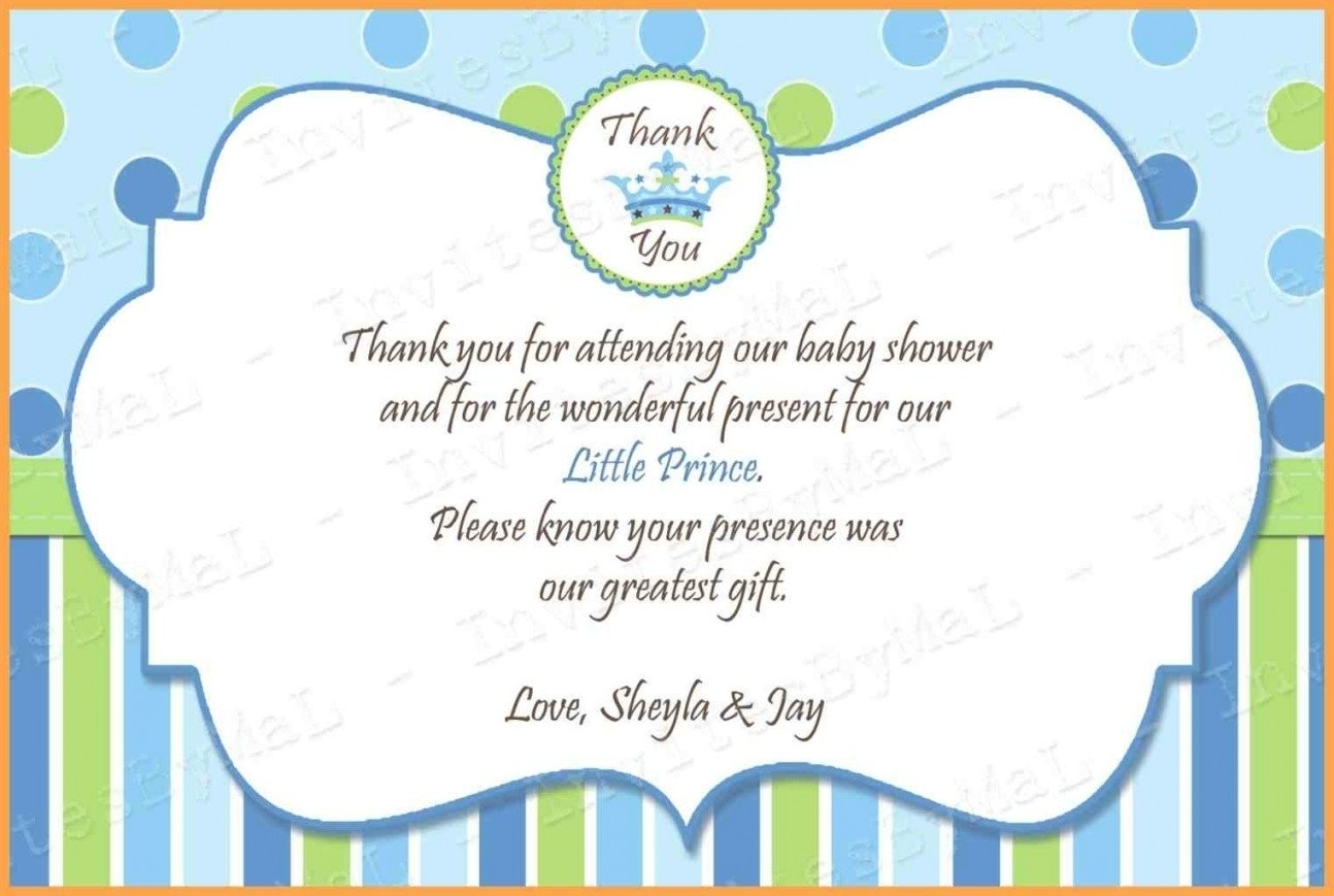 baby shower thank you wording - wedding